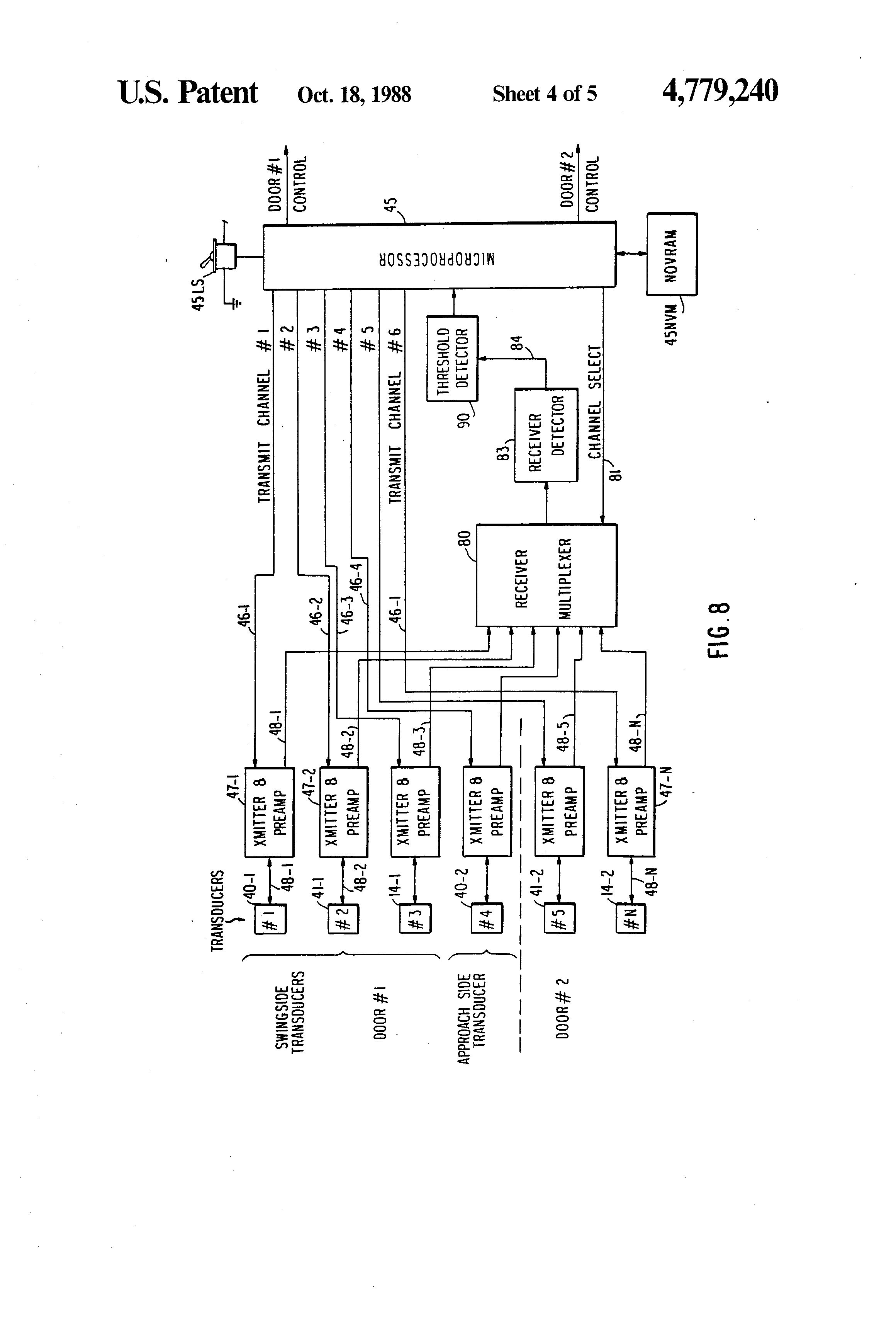 Patent Us4779240 Ultrasonic Sensor System Google Patents Circuitprojectscomultrasonic Oscillations Which Drawing
