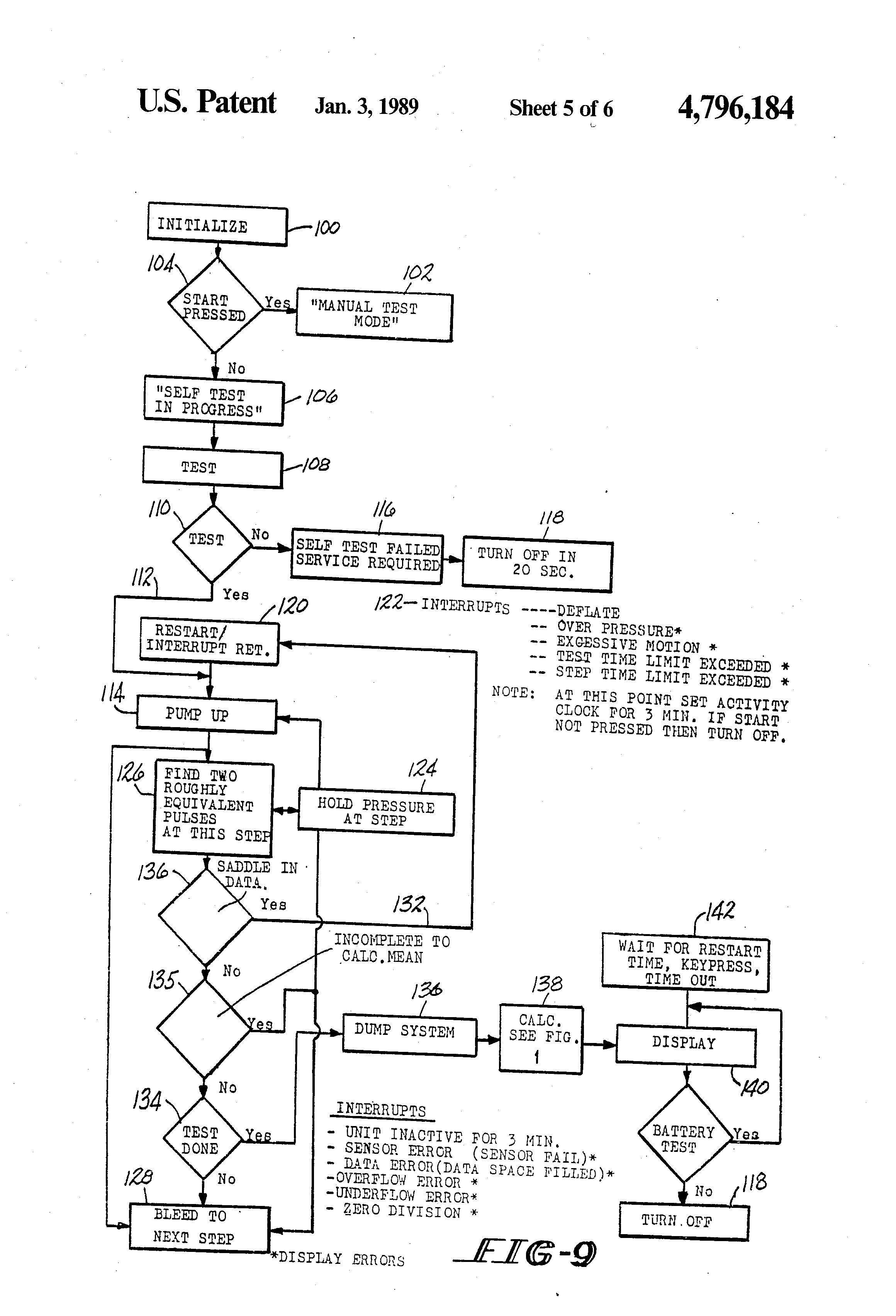 Patent Us4796184 Automatic Blood Pressure Measuring Device And 10mhzvfo Oscillatorcircuit Signalprocessing Circuit Diagram Drawing