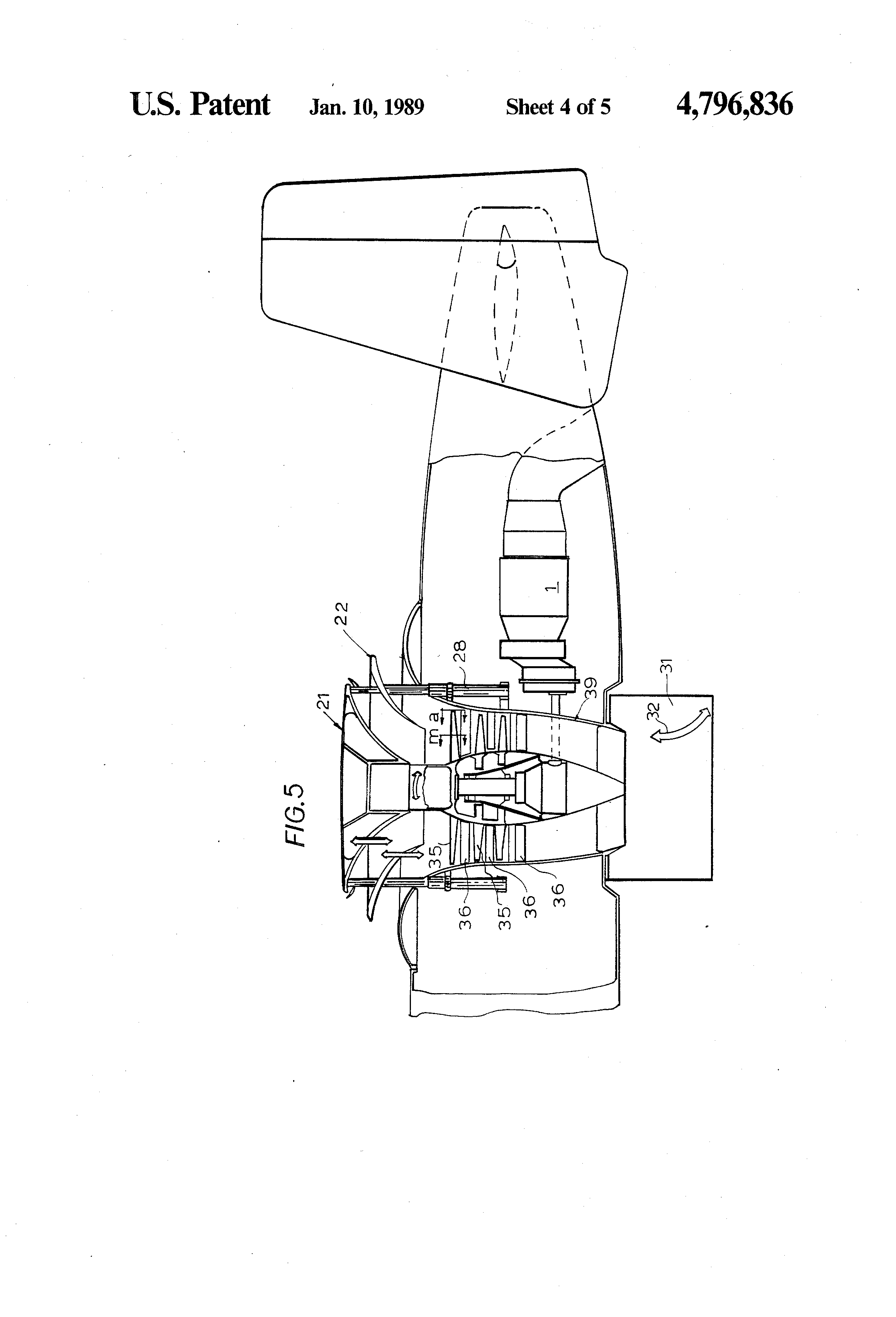 Patent US4796836 - Lifting engine for VTOL aircrafts