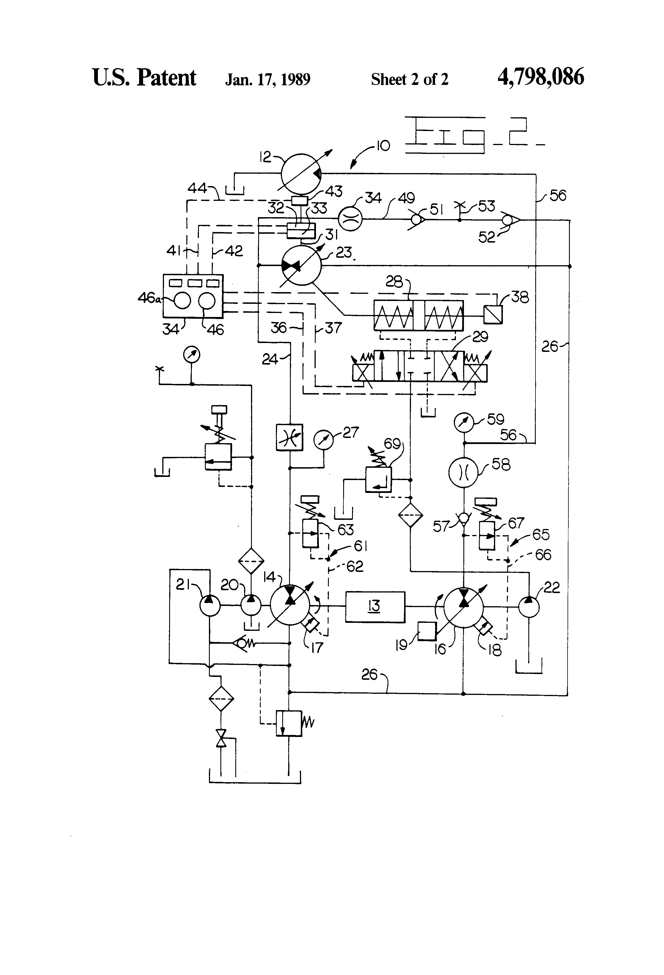 Patent Us4798086 Test Bench For Testing Hydraulic Pumps