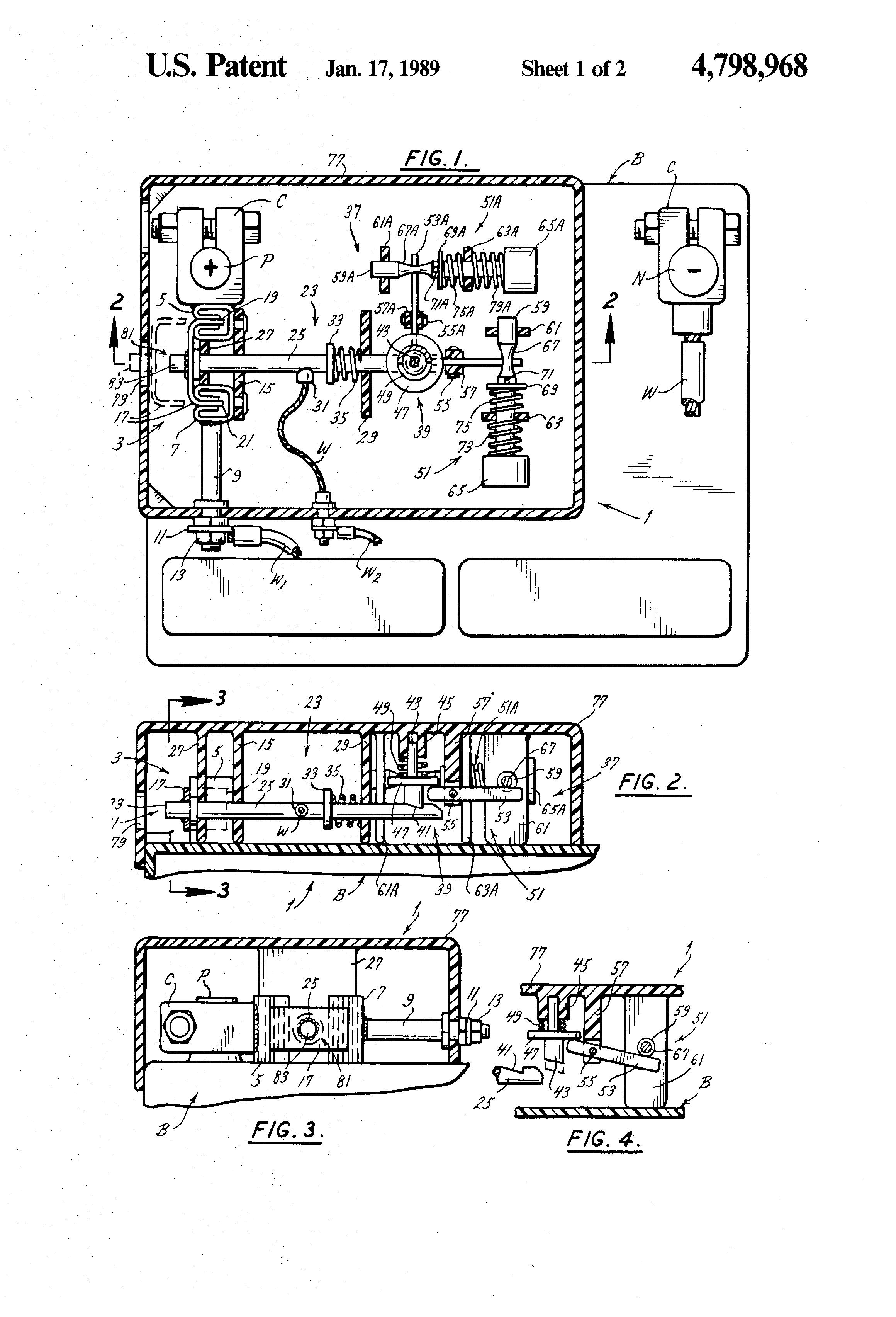 Patente US4798968 - Battery disconnect apparatus - Google Patentes