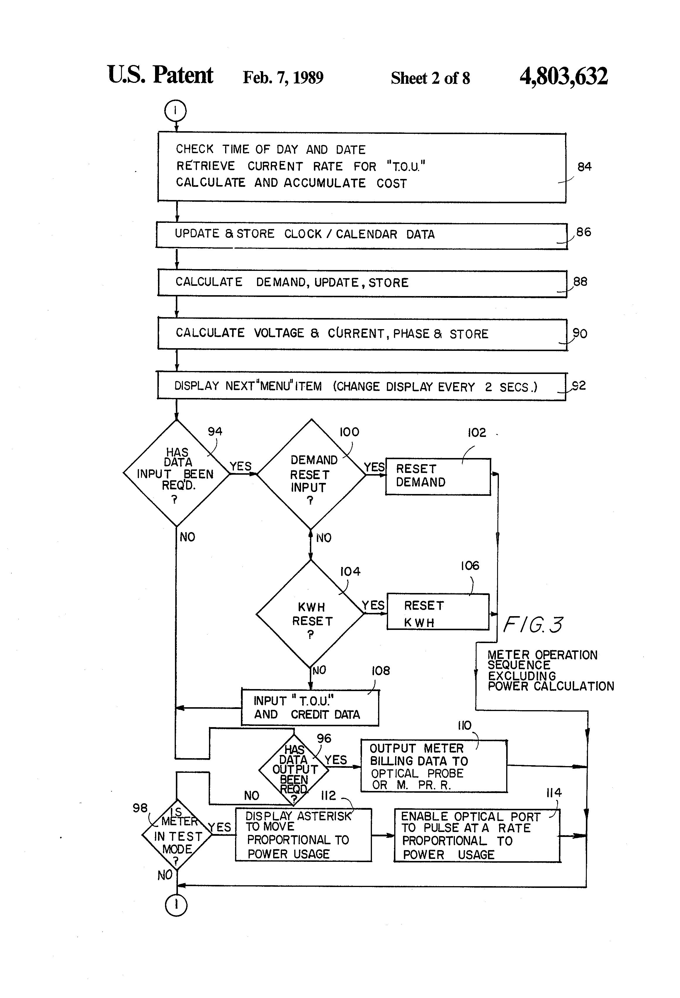 Patent Us4803632 Intelligent Utility Meter System