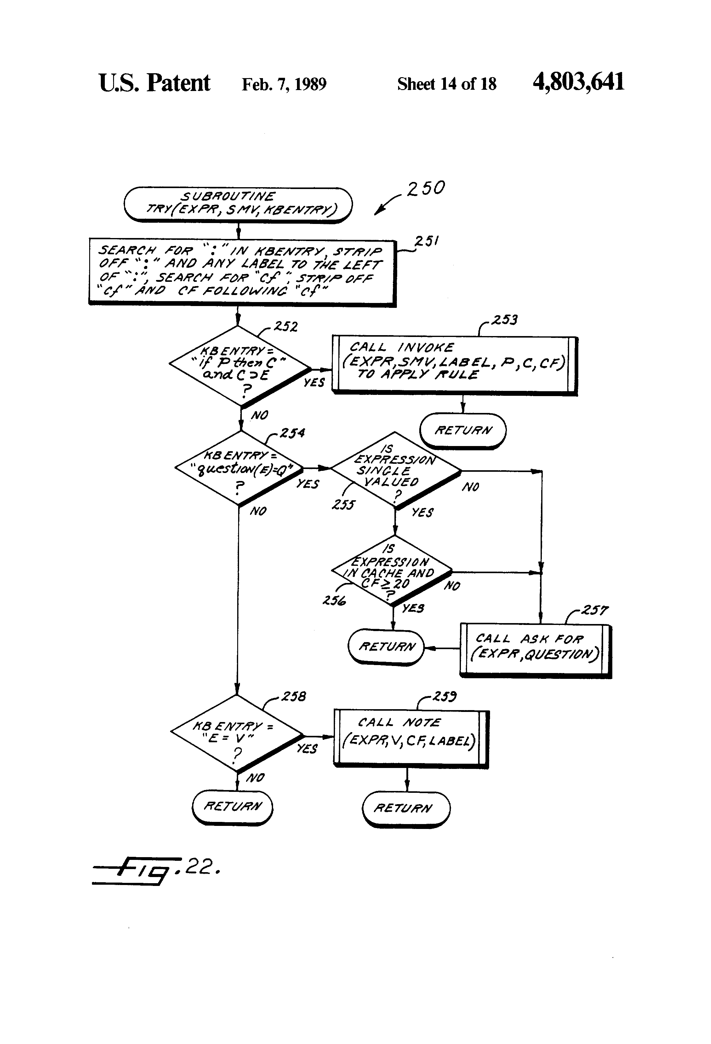 patent us4803641 - basic expert system tool