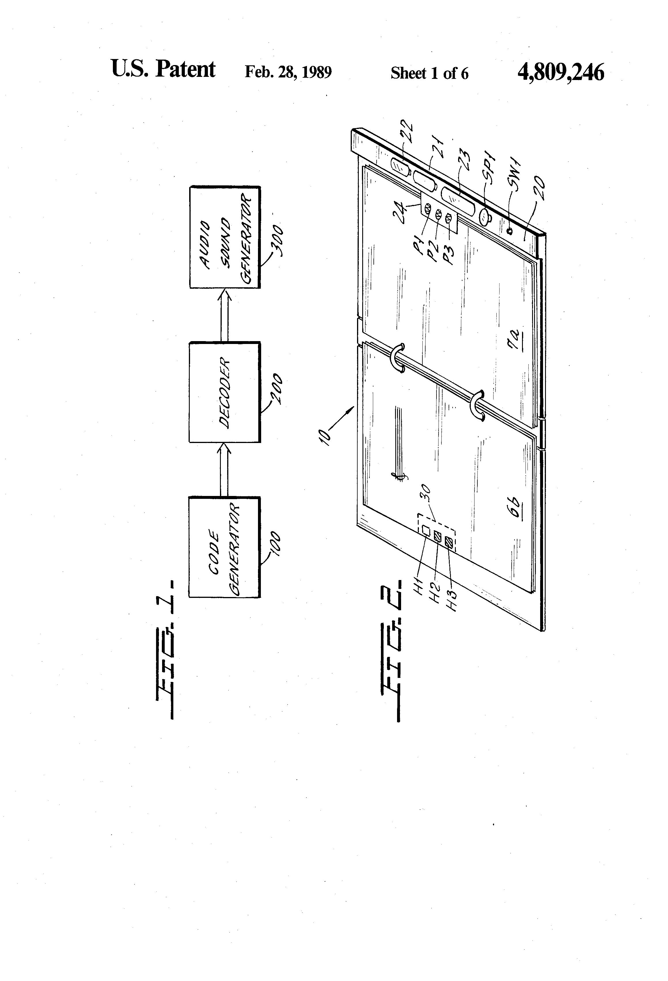 patent us4809246