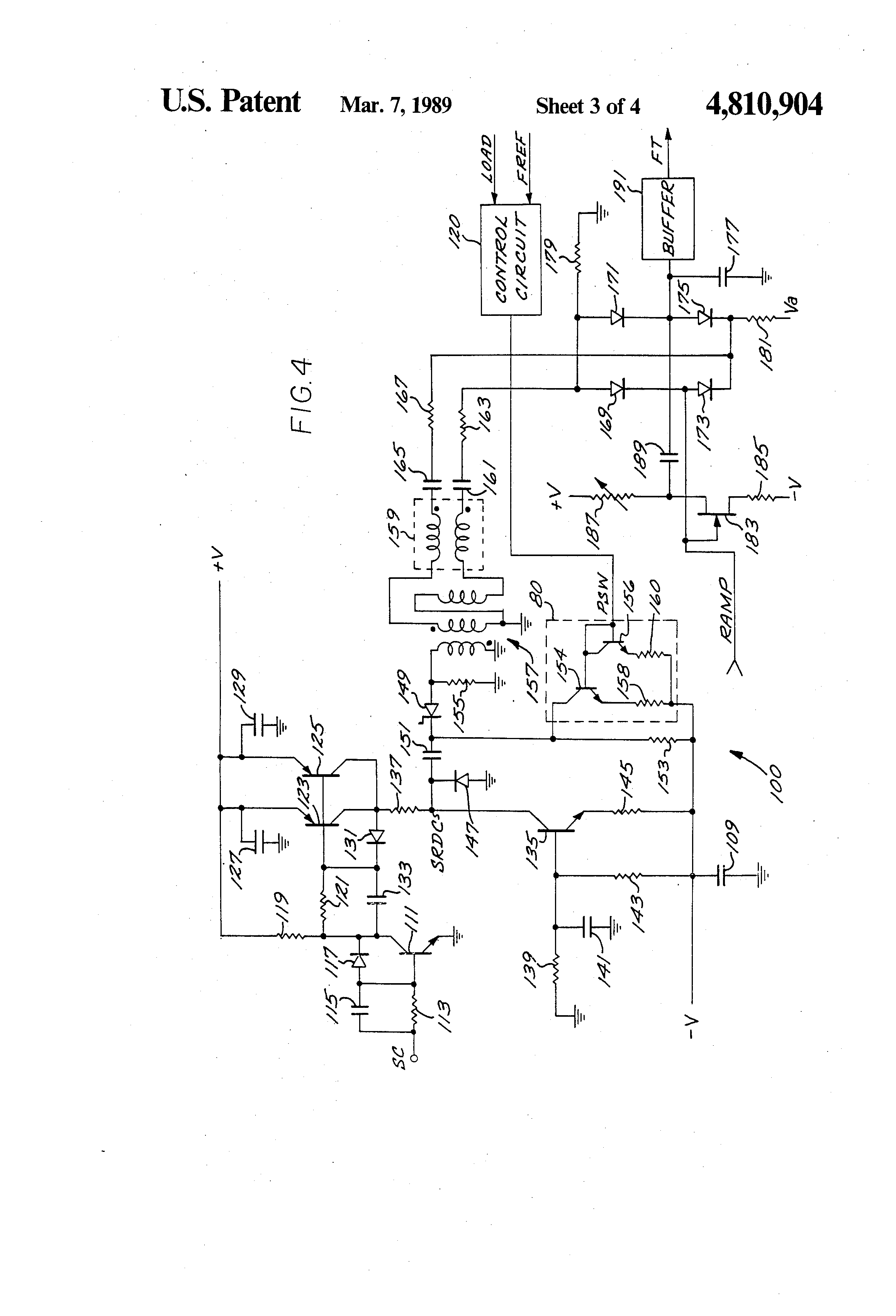 patent us4810904 - sample-and-hold phase detector circuit