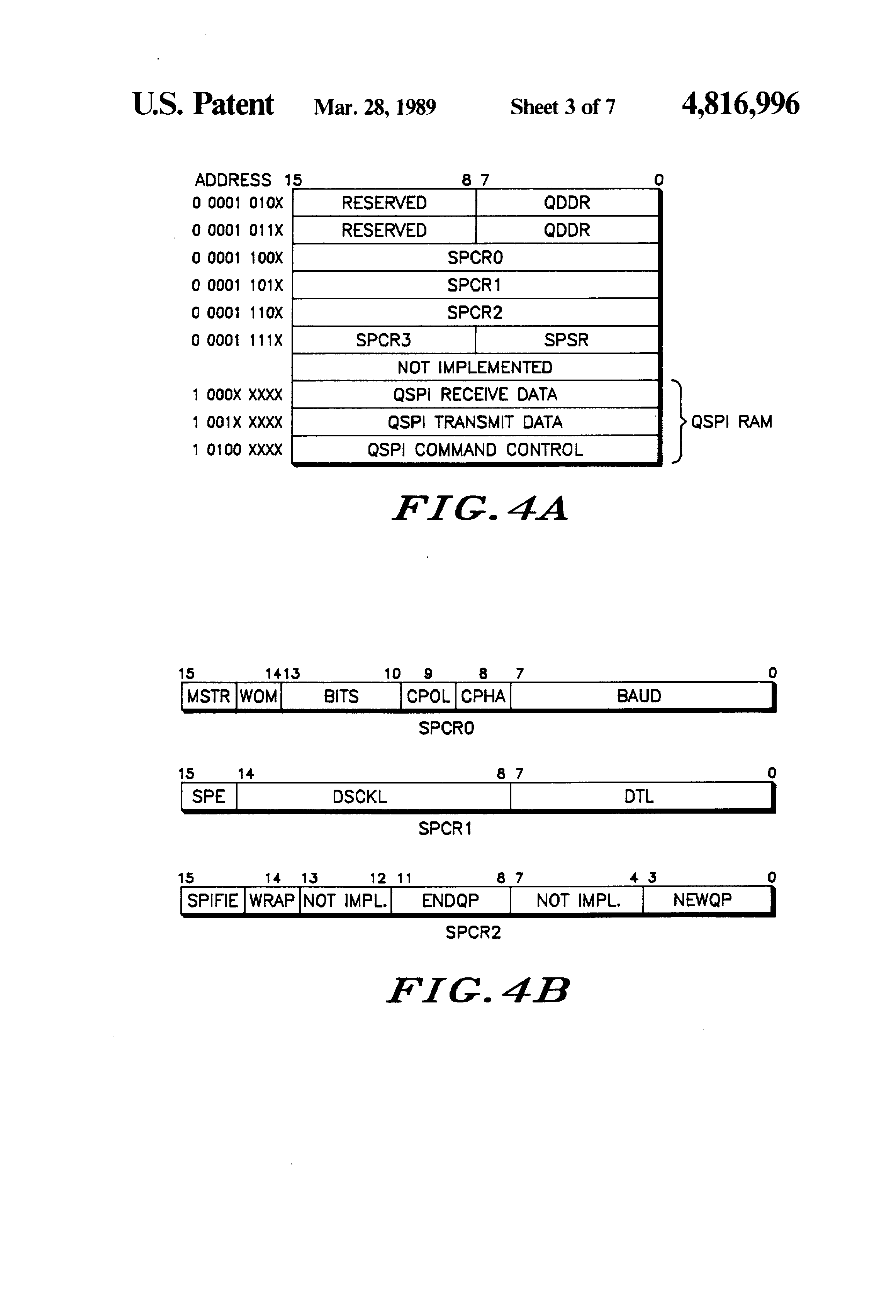 Patent US4816996 - Queued serial peripheral interface for use in a