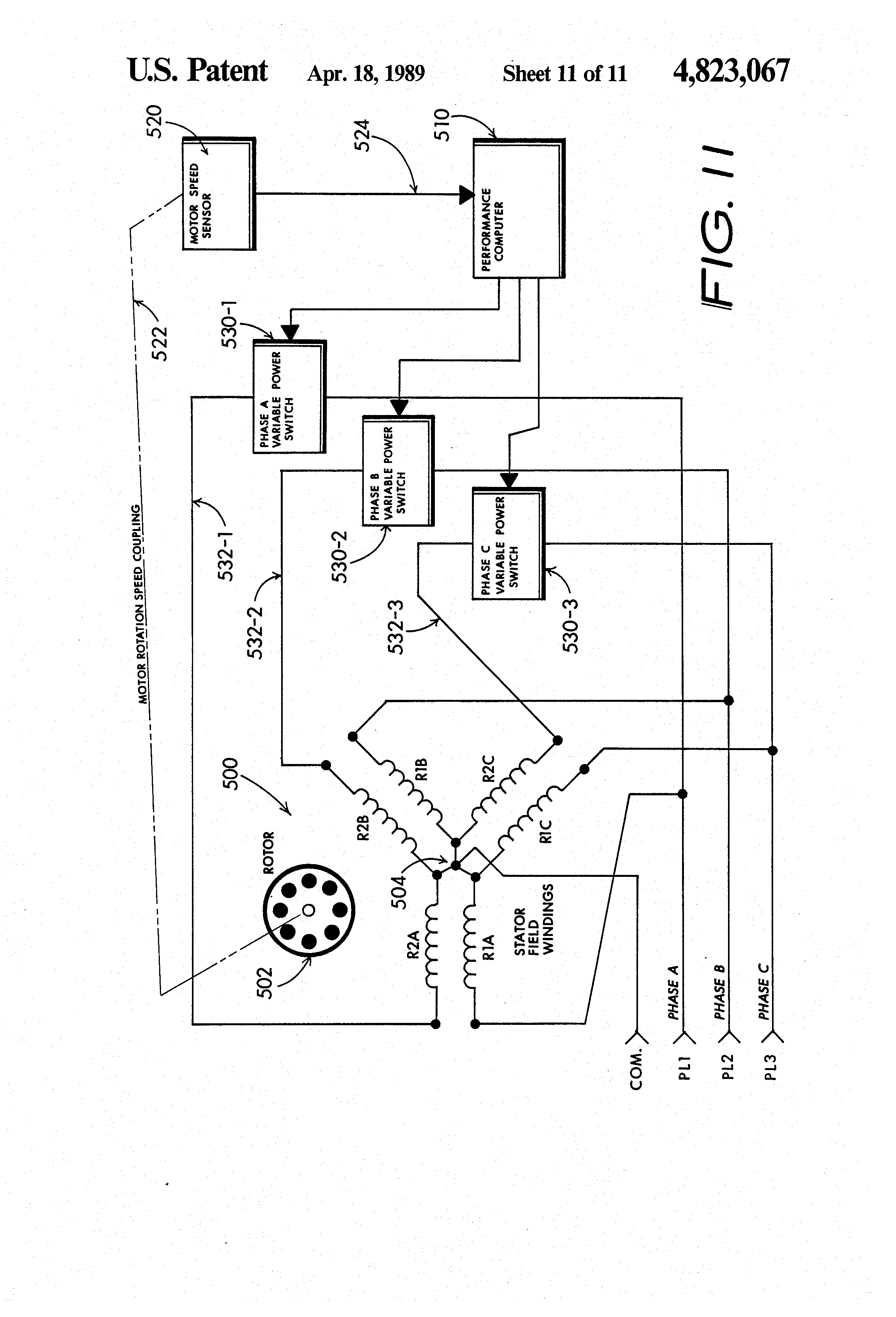 Patent Us4823067 Energy Conserving Electric Induction Motor Control Method And Apparatus