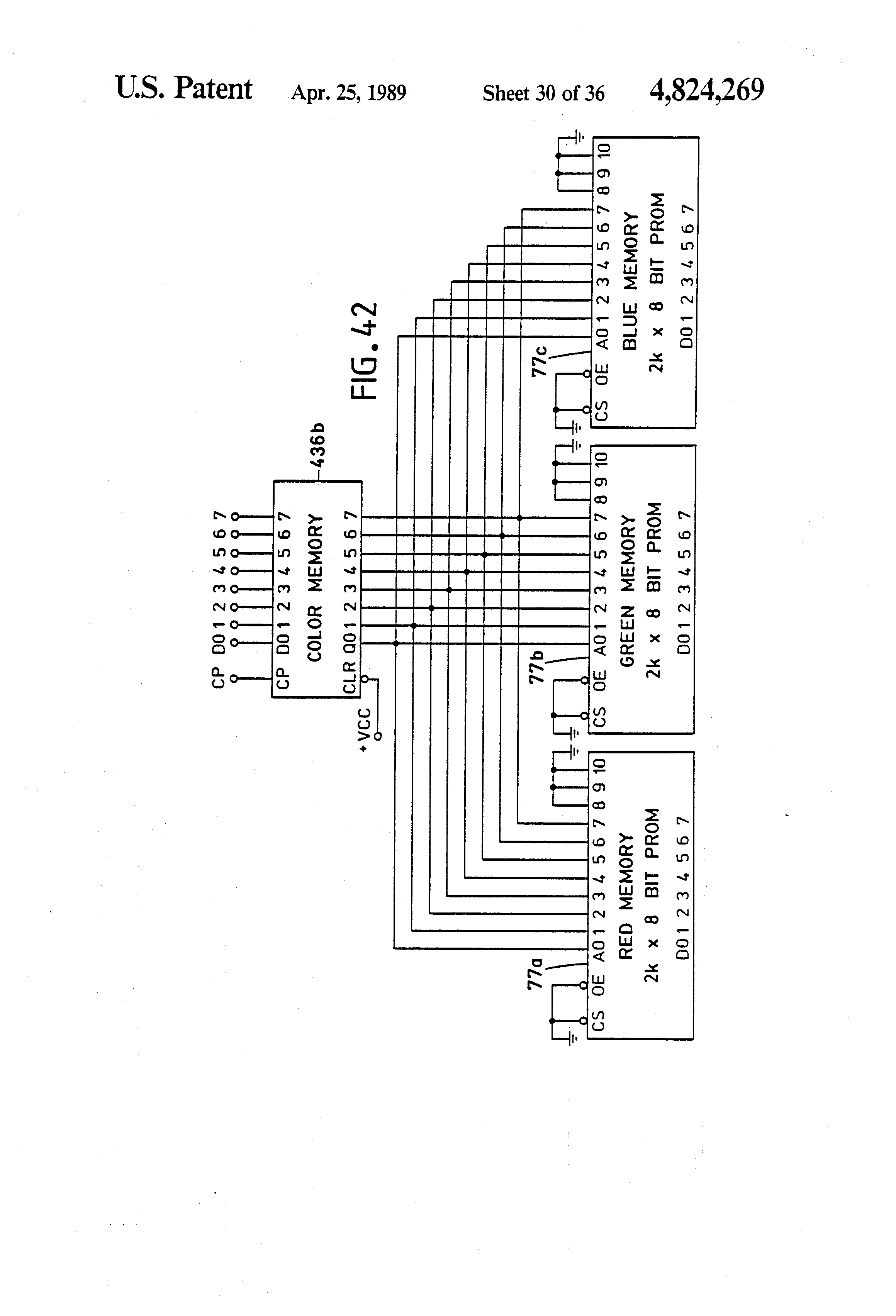 Patent Us4824269 Variable Color Display Typewriter Google Patents Lm741 A D Converter The Circuit Shown Is An 8 Bit Binary Drawing