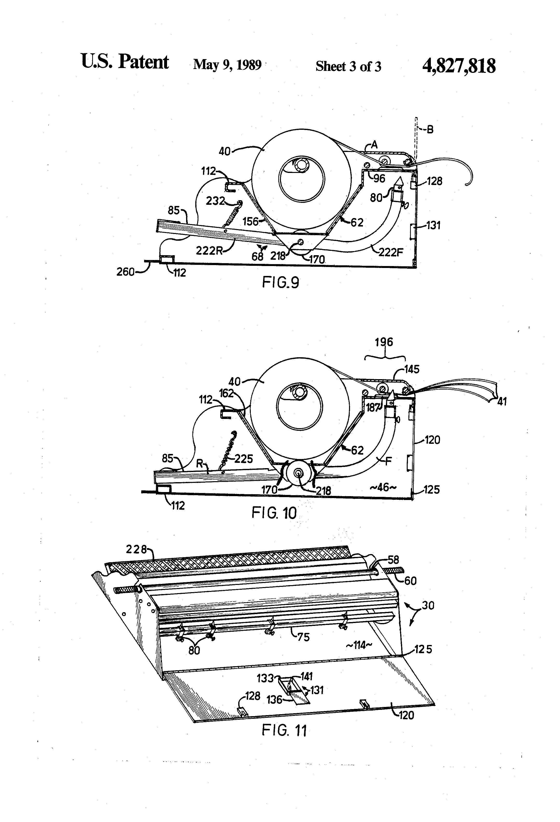 Patent Us4827818 Portable Roofing Felt Slitter Google