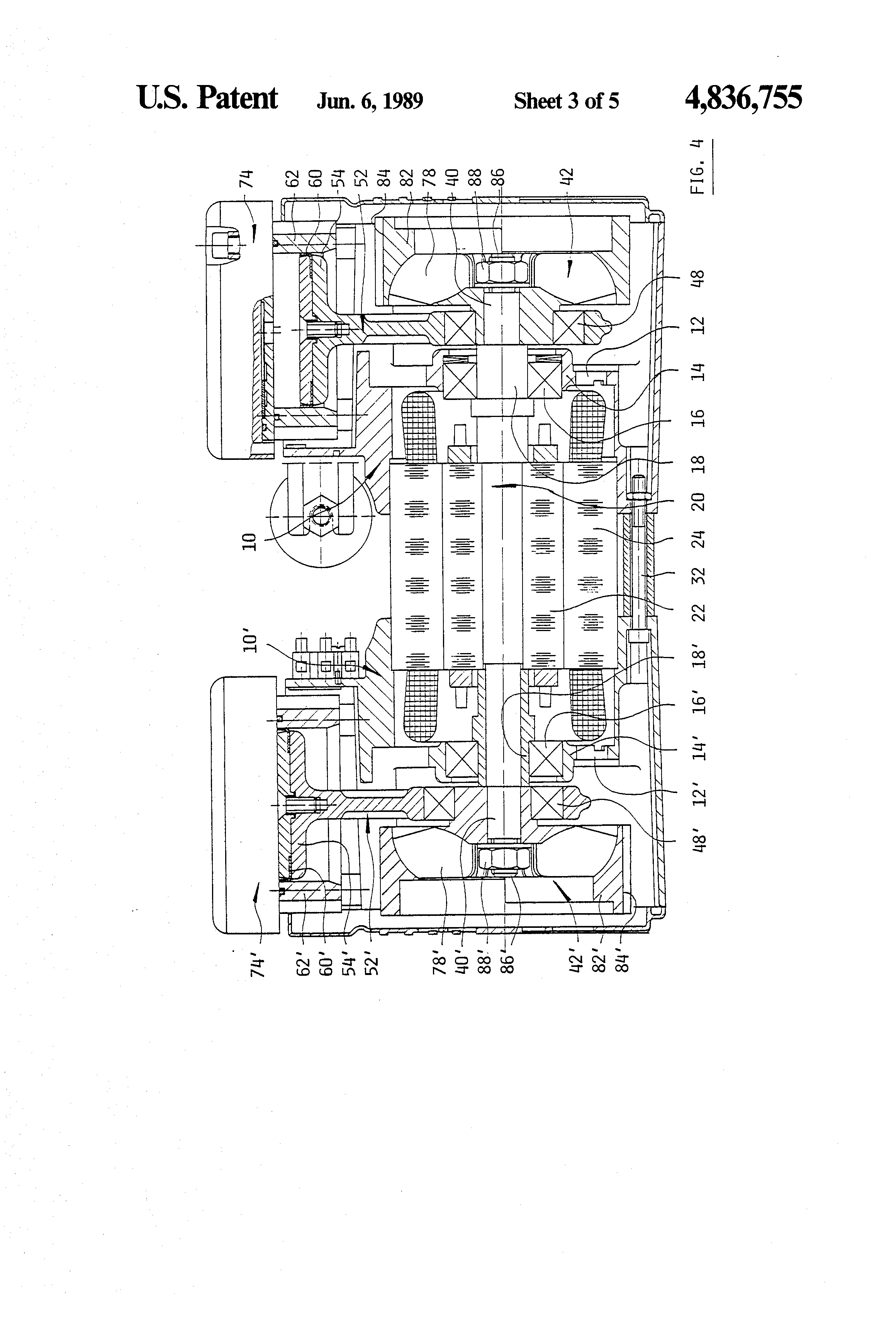 Patent Us4836755 Compressor With Balanced Flywheel Google 1965 Tecumseh Engine Diagram Drawing