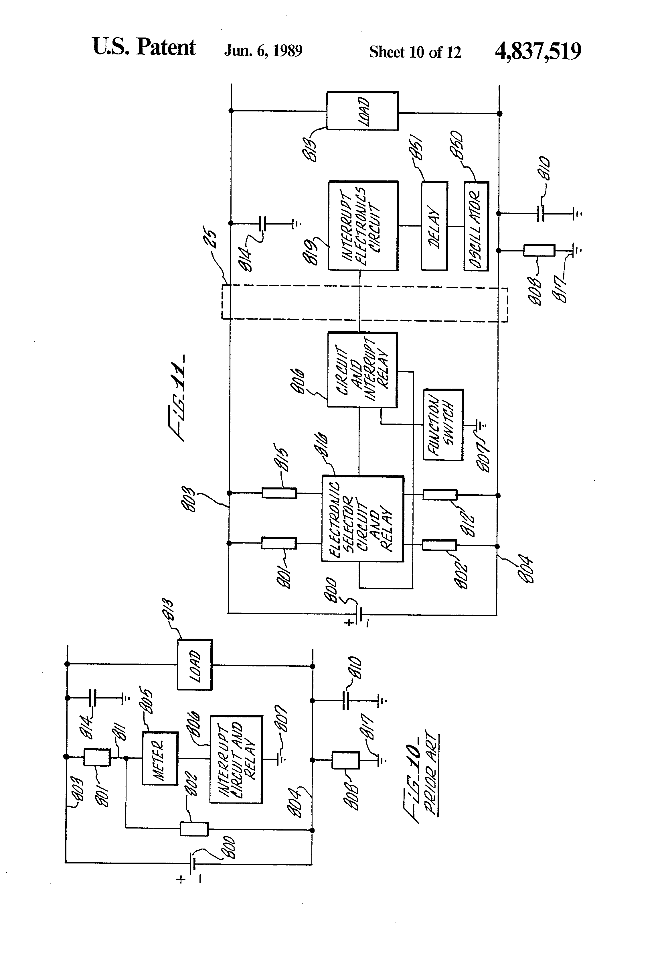 Patent Us4837519 Fault Detection Google Patents Relay Switch Earth Drawing