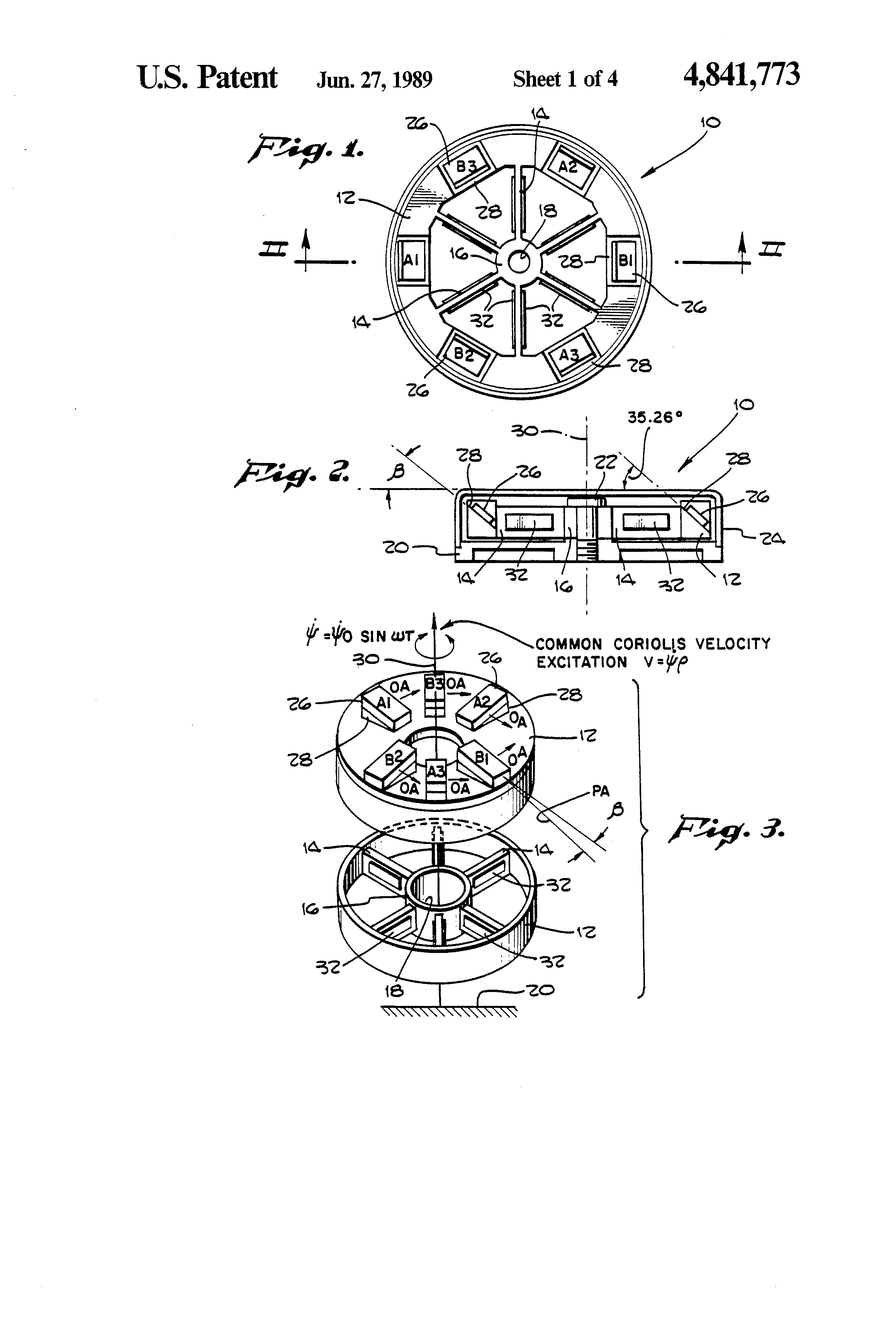 patent us4841773 - miniature inertial measurement unit