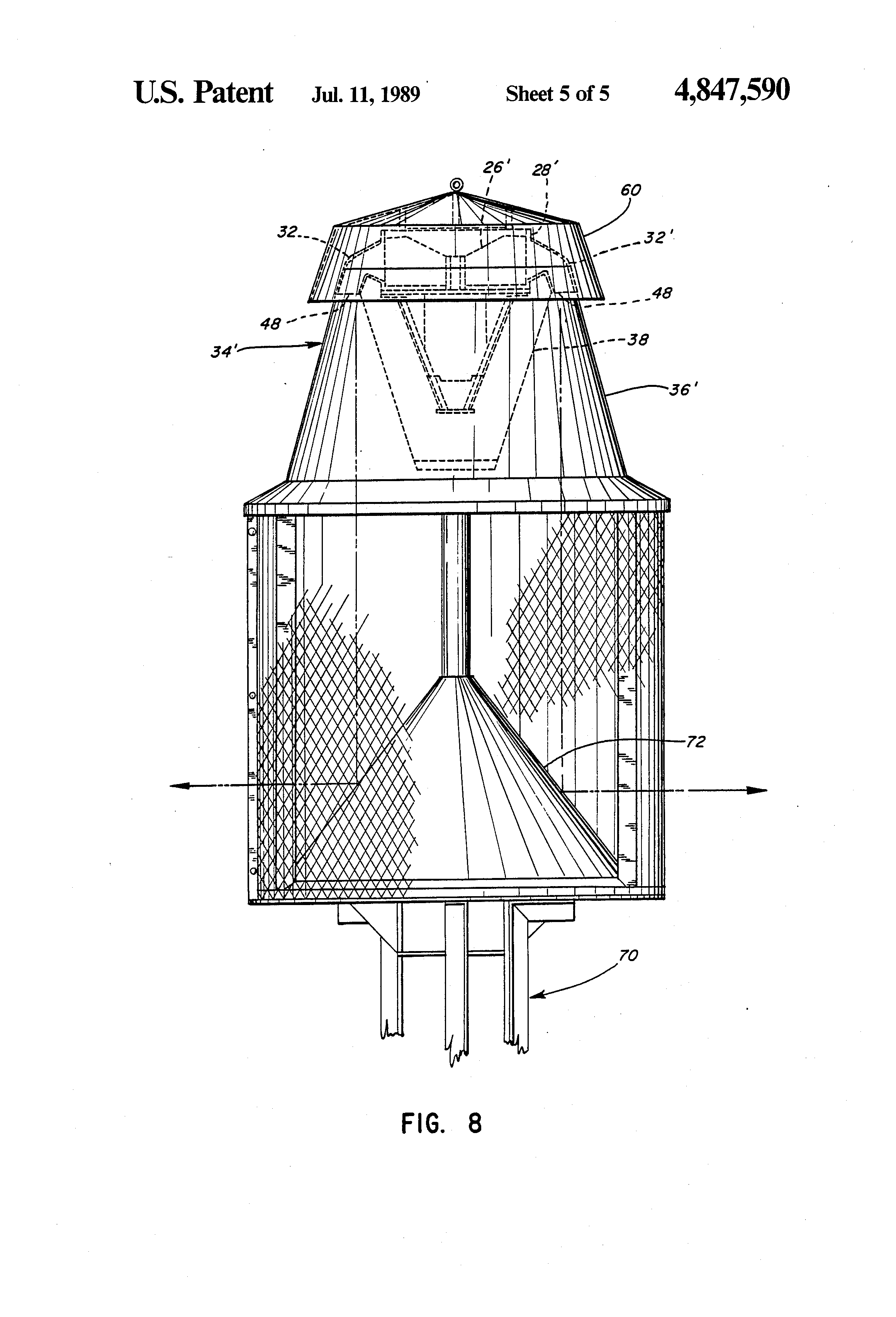 patent us4847590 - outdoor warning siren