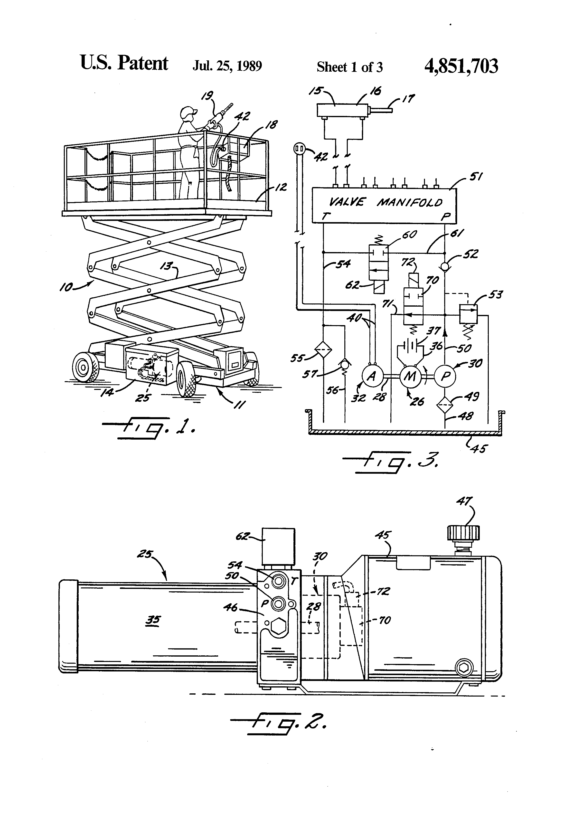 Patent Us4851703 Electro Hydraulic Power Pack Google