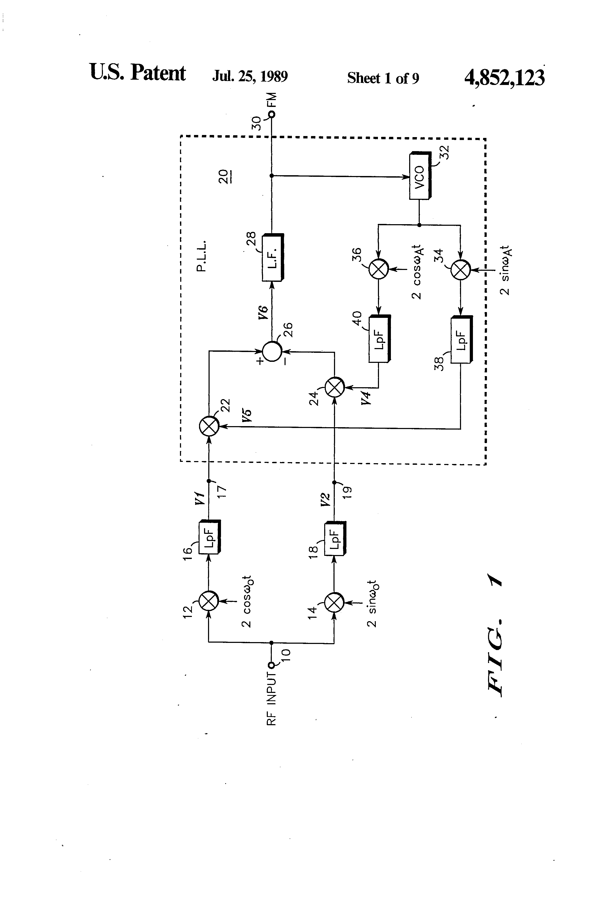 Patent Us4852123 Nearly Dc If Phase Locked Transceiver Google Single Supply Loop Drawing
