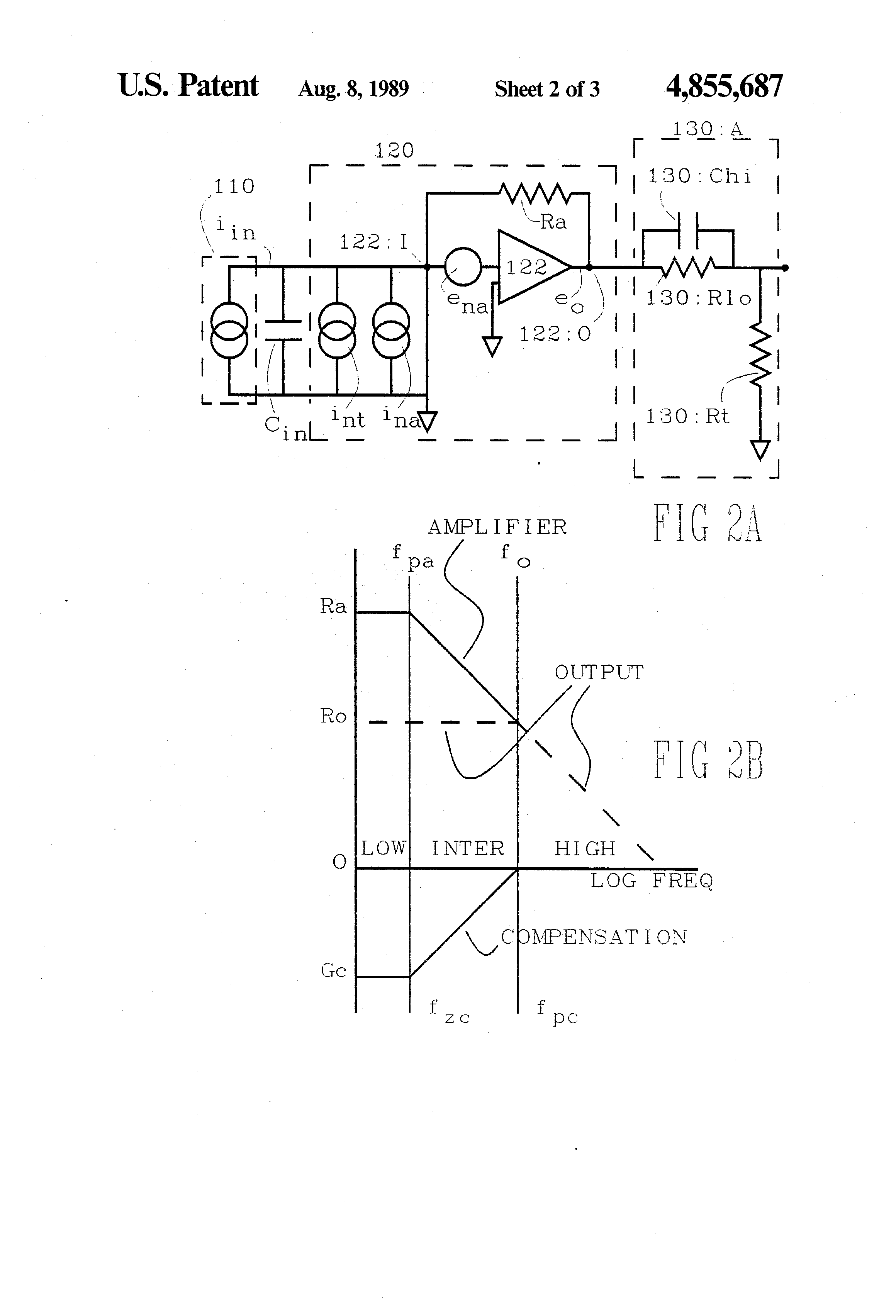 Patent Us4855687 Transimpedance Amplifier With Noise Reduction And Electronic Circuits Diagram Drawing