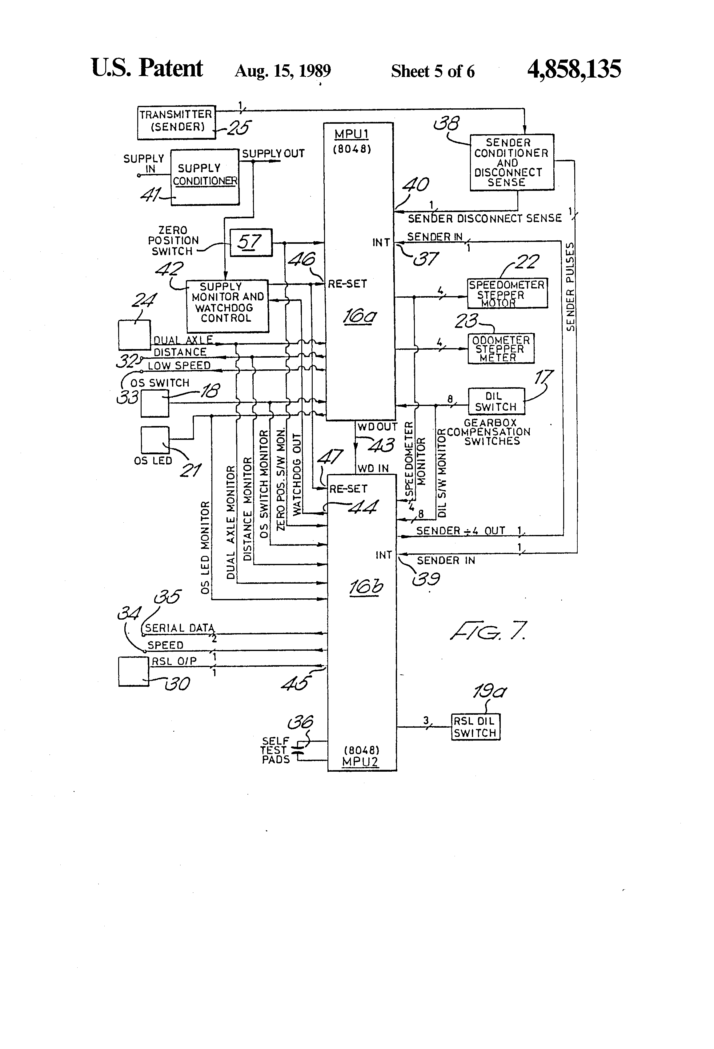 patent us4858135 - tachograph and vehicle speed control ... vdo gps speedometer wiring diagram vdo 1318 tachograph wiring diagram