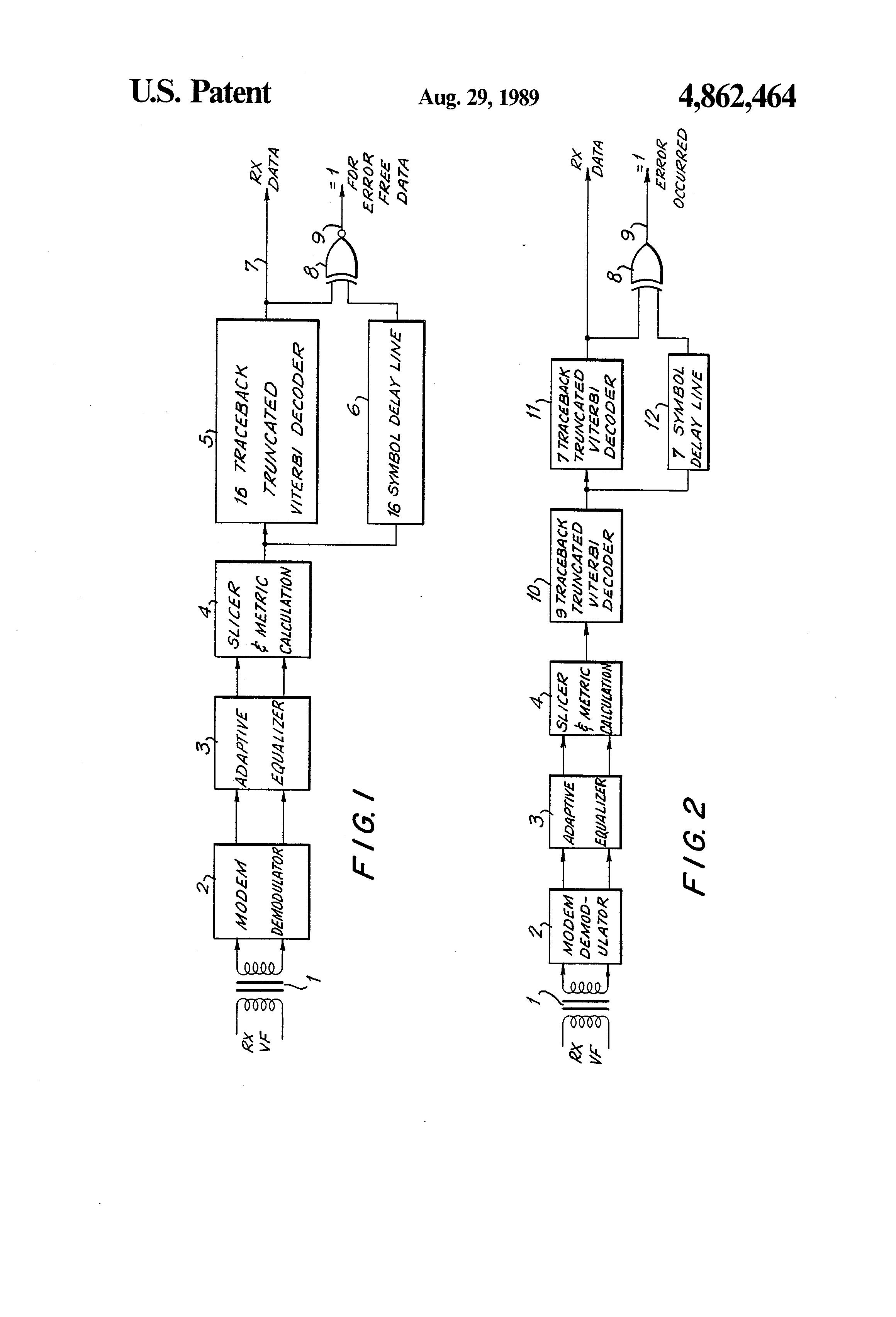 Patent US4862464 - Data error detector for digital modems