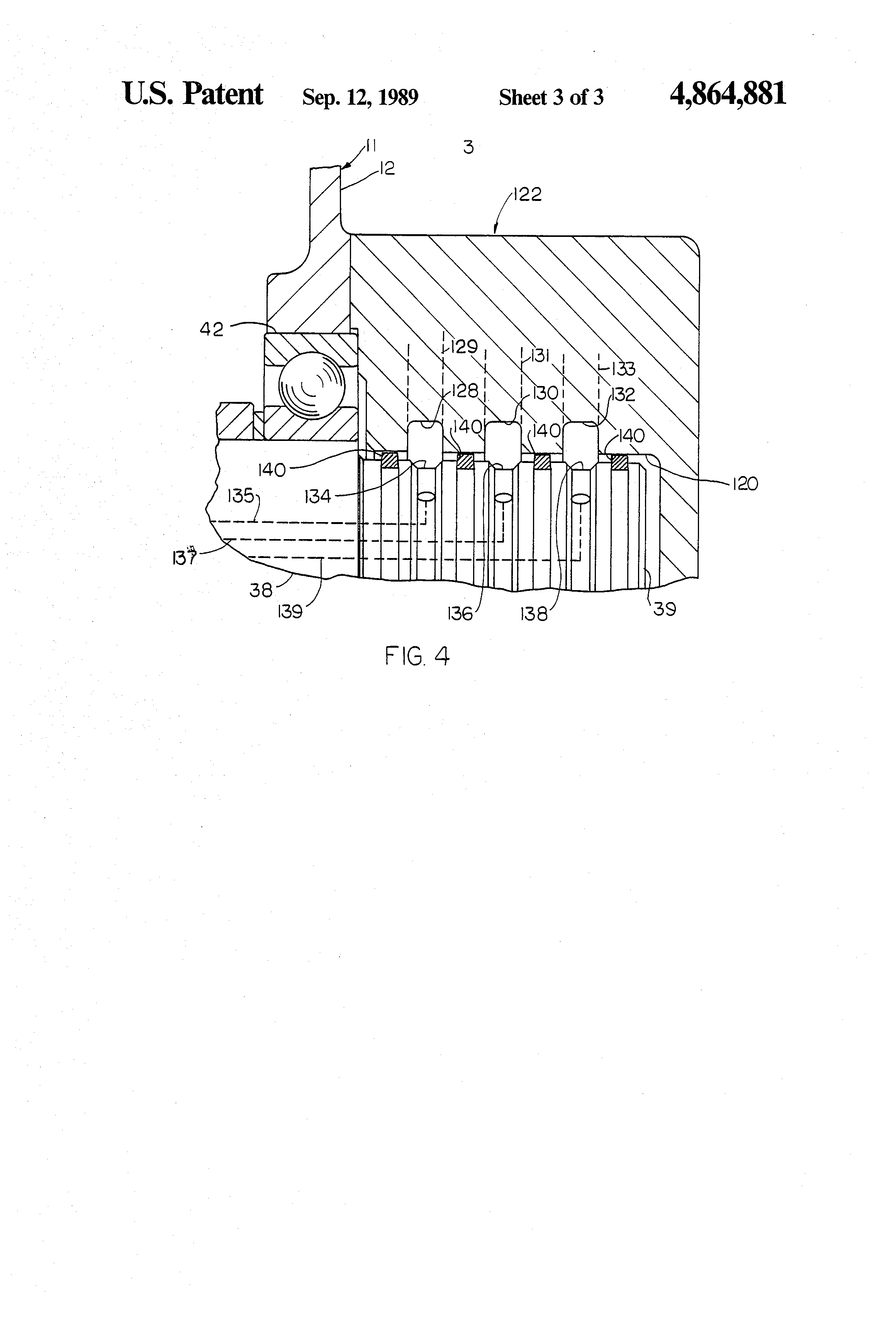 Patent US4864881 - Powershift transmission with four speed