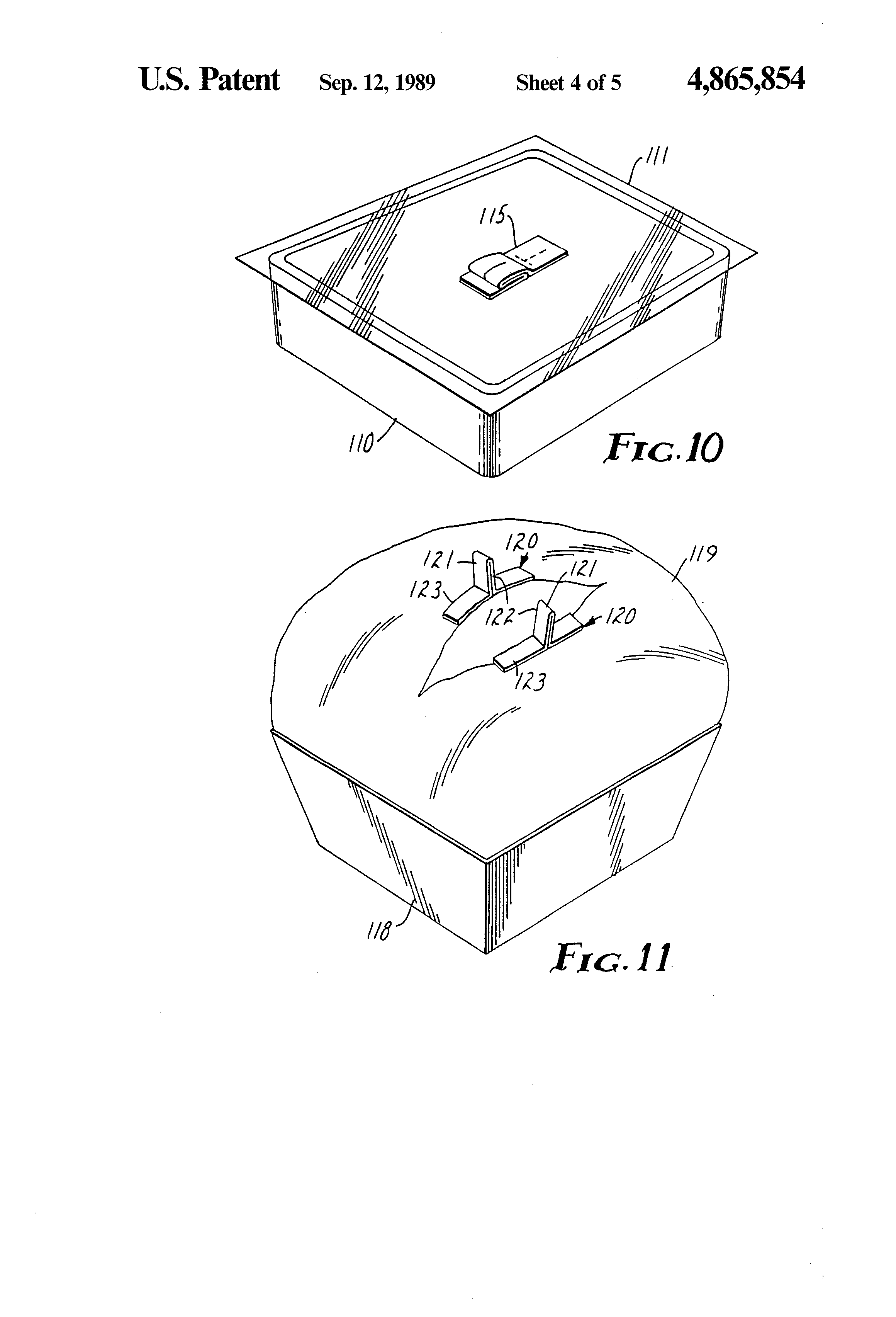 Patent Us4865854 Microwave Food Package Google Patentsuche