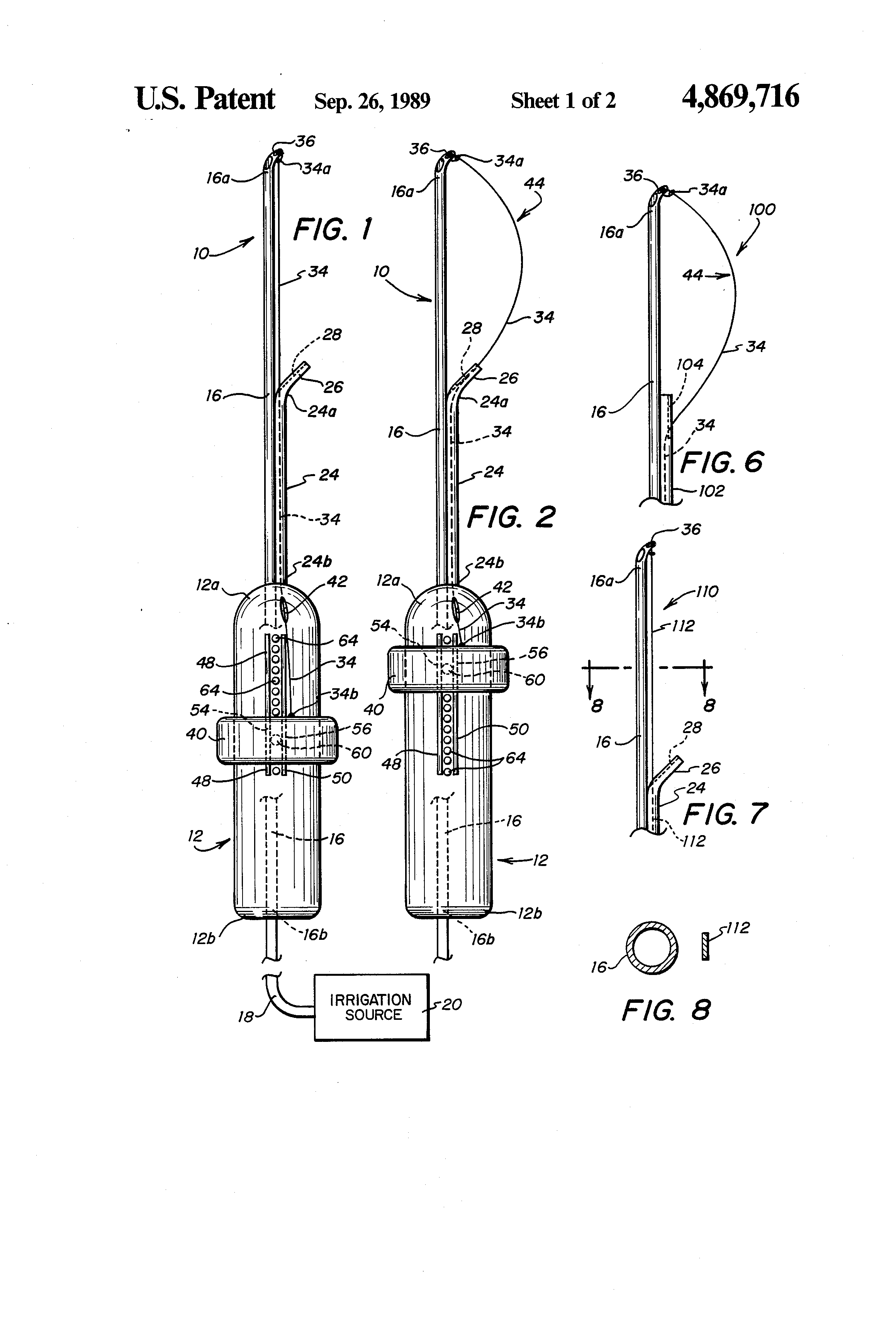 Patent US4869716 - Surgical instrument and method for
