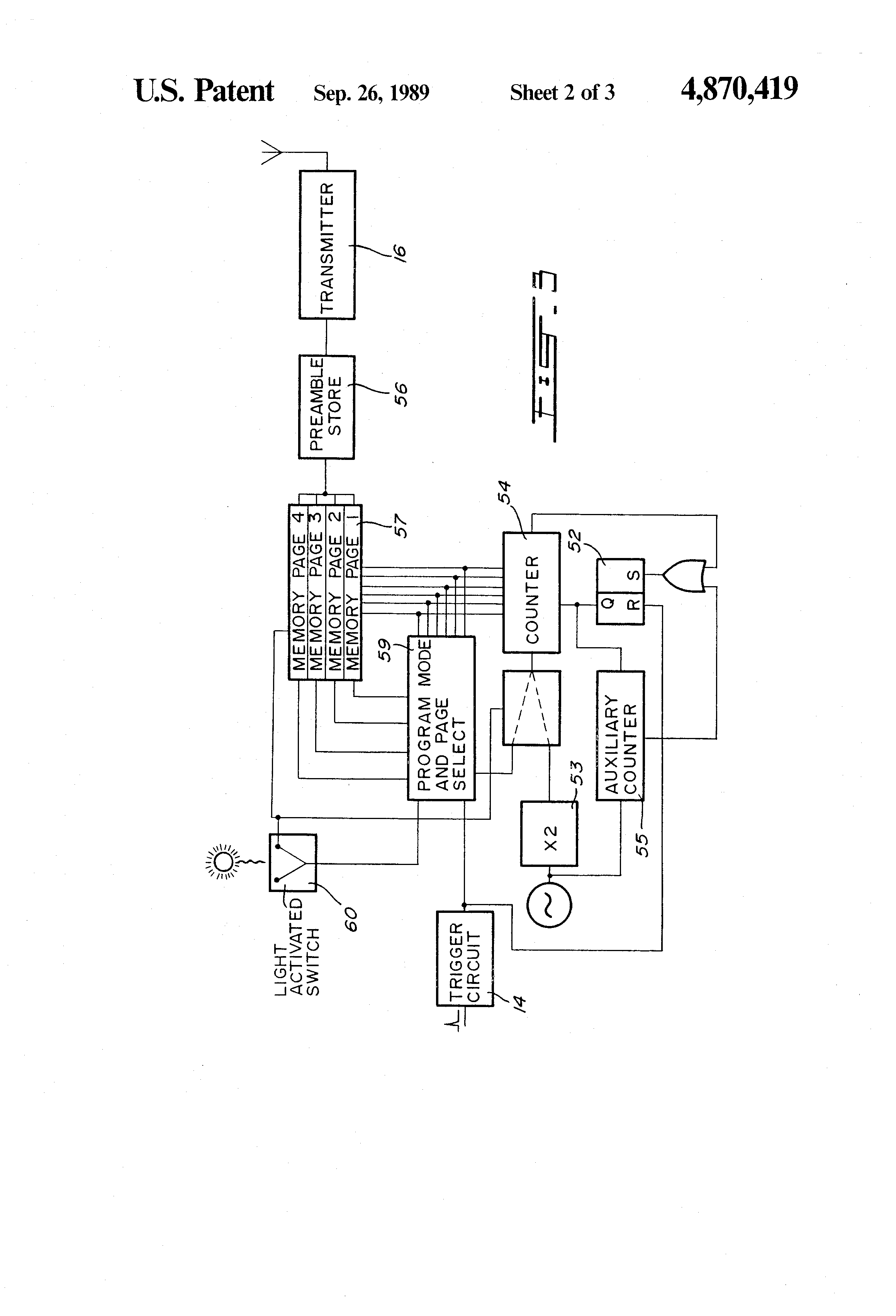 Crystal Oscillator I Circuit Diagram Tradeoficcom Data Wiring Marker Pulse Generator Patente Us4870419 Electronic Identification System Google Patentes