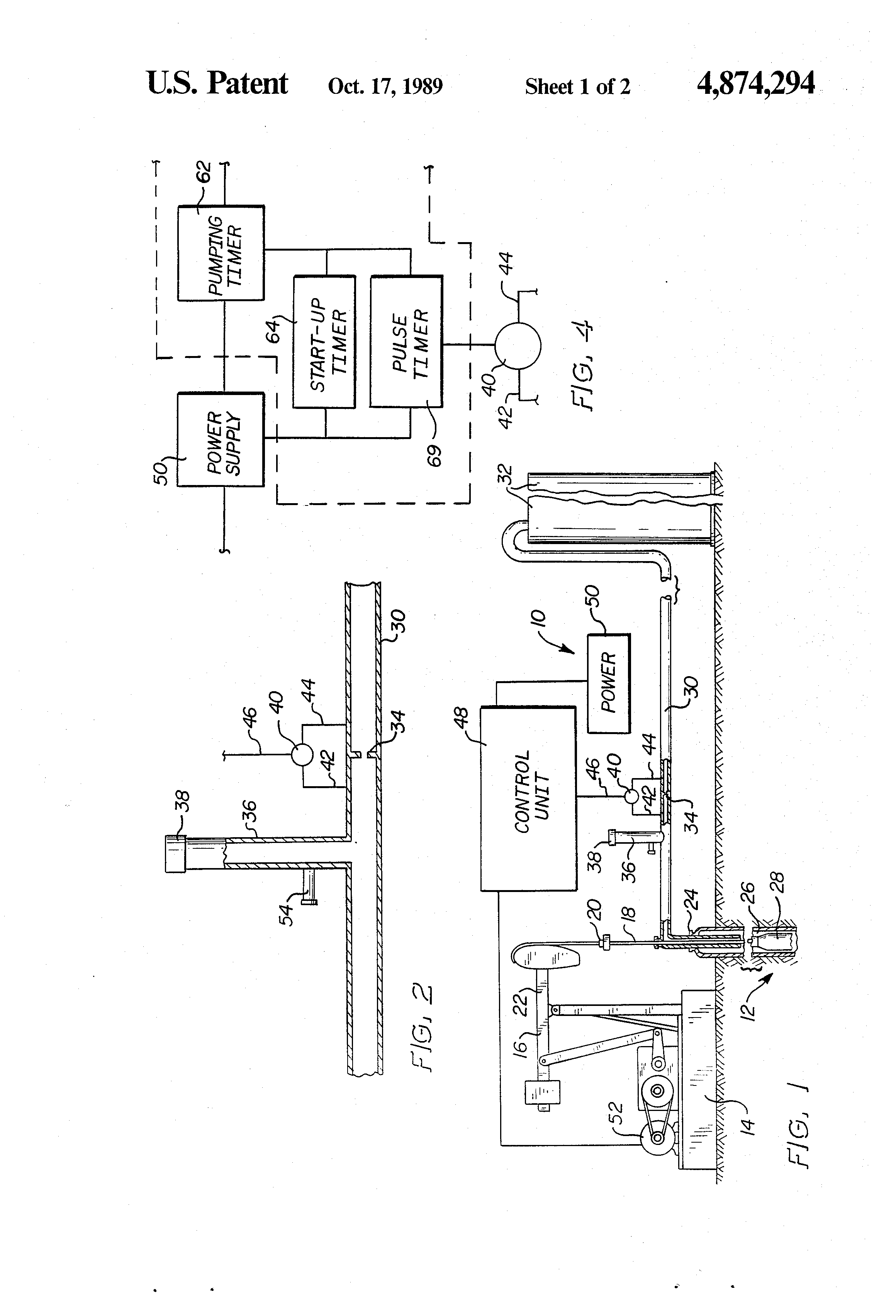 Patent Us4874294 Oil Well Pump Control Google Patents