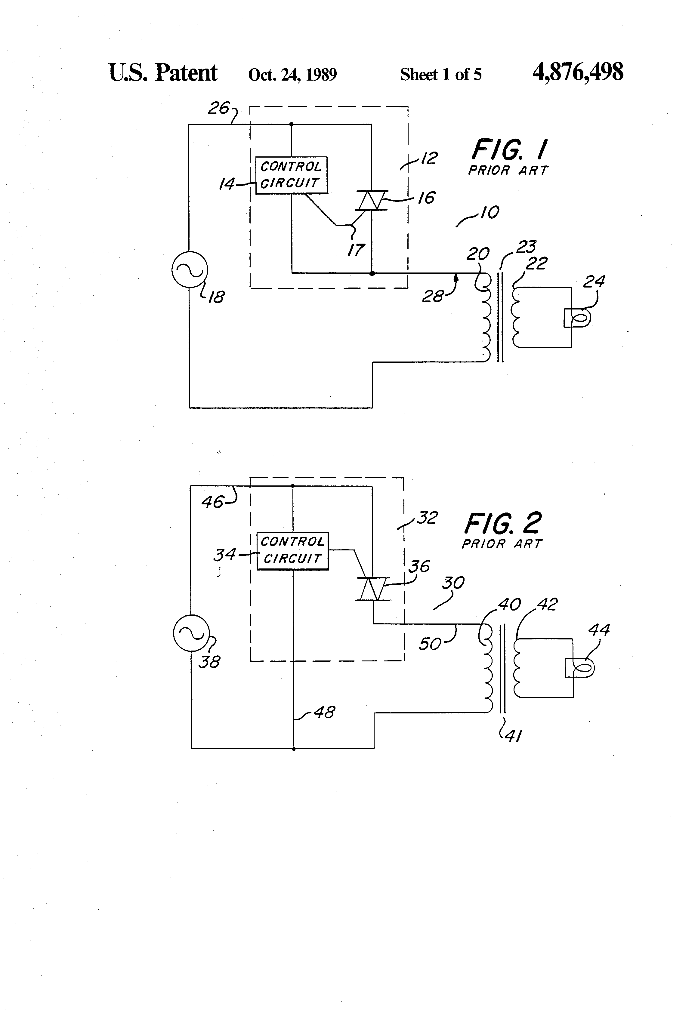 Patente Us4876498 Two Wire Low Voltage Dimmer Google Patentes Using An Scr Allows The Use Of Lowvoltage Electronics To Control Patent Drawing