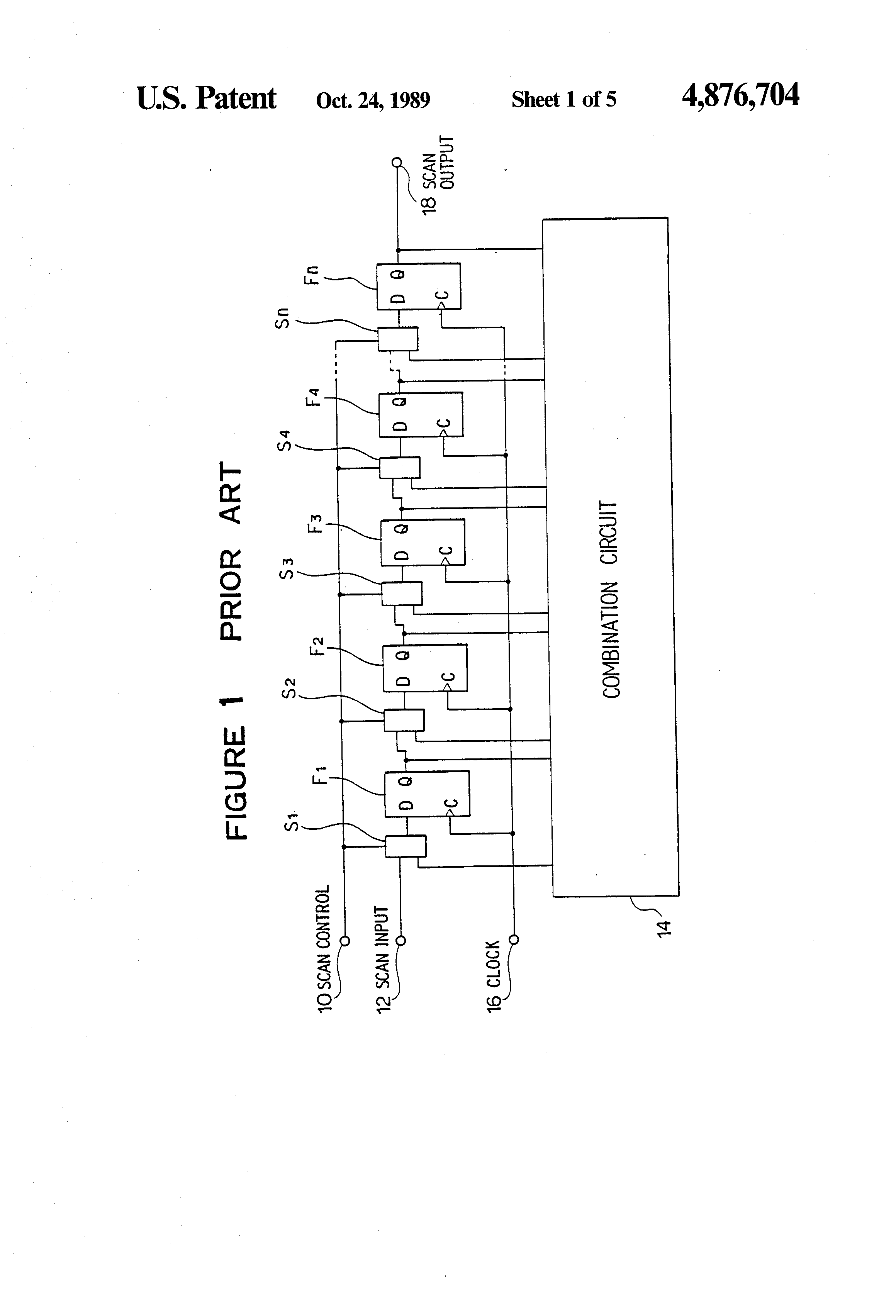 Patent US4876704 - Logic integrated circuit for scan path