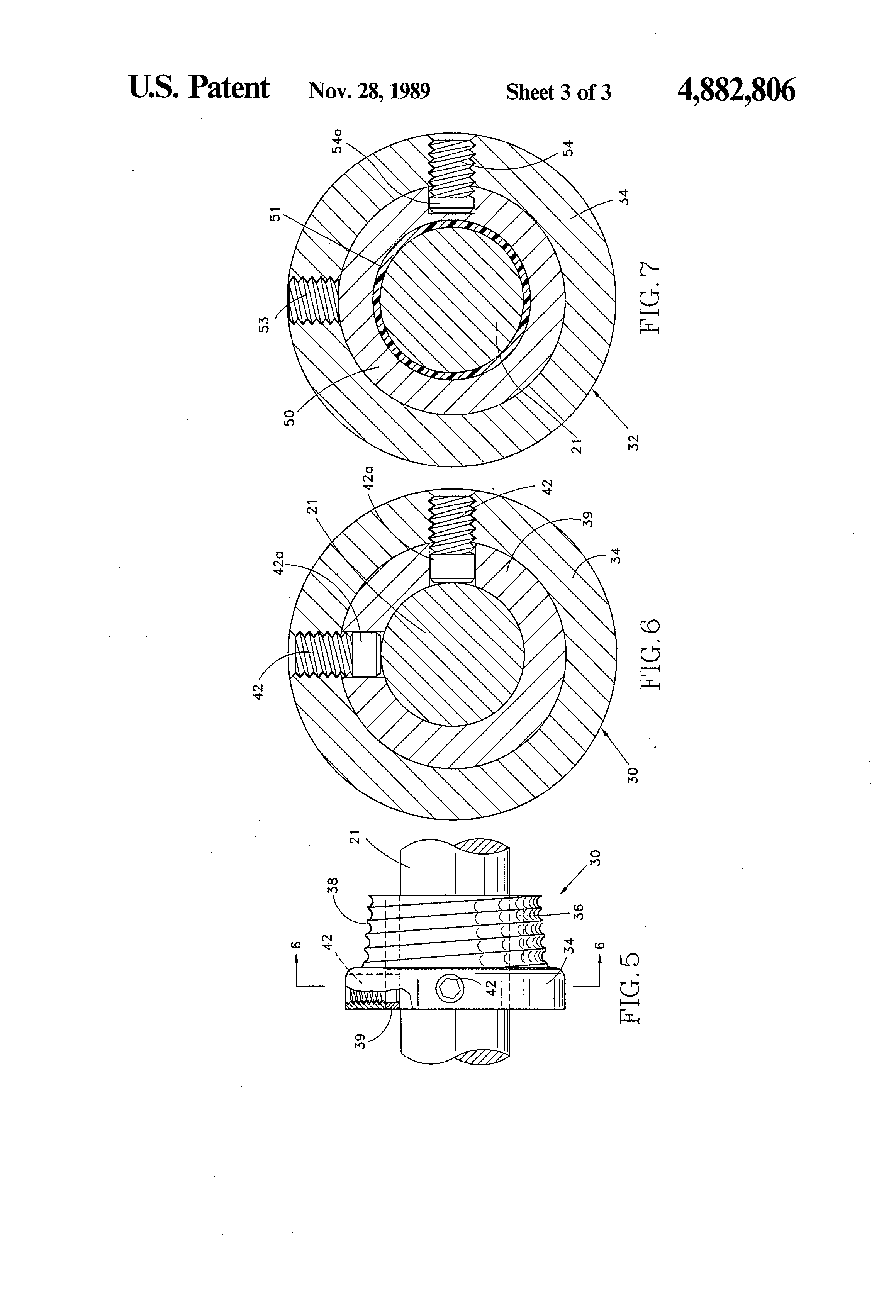Patent Us4882806 Counterbalancing Torsion Spring