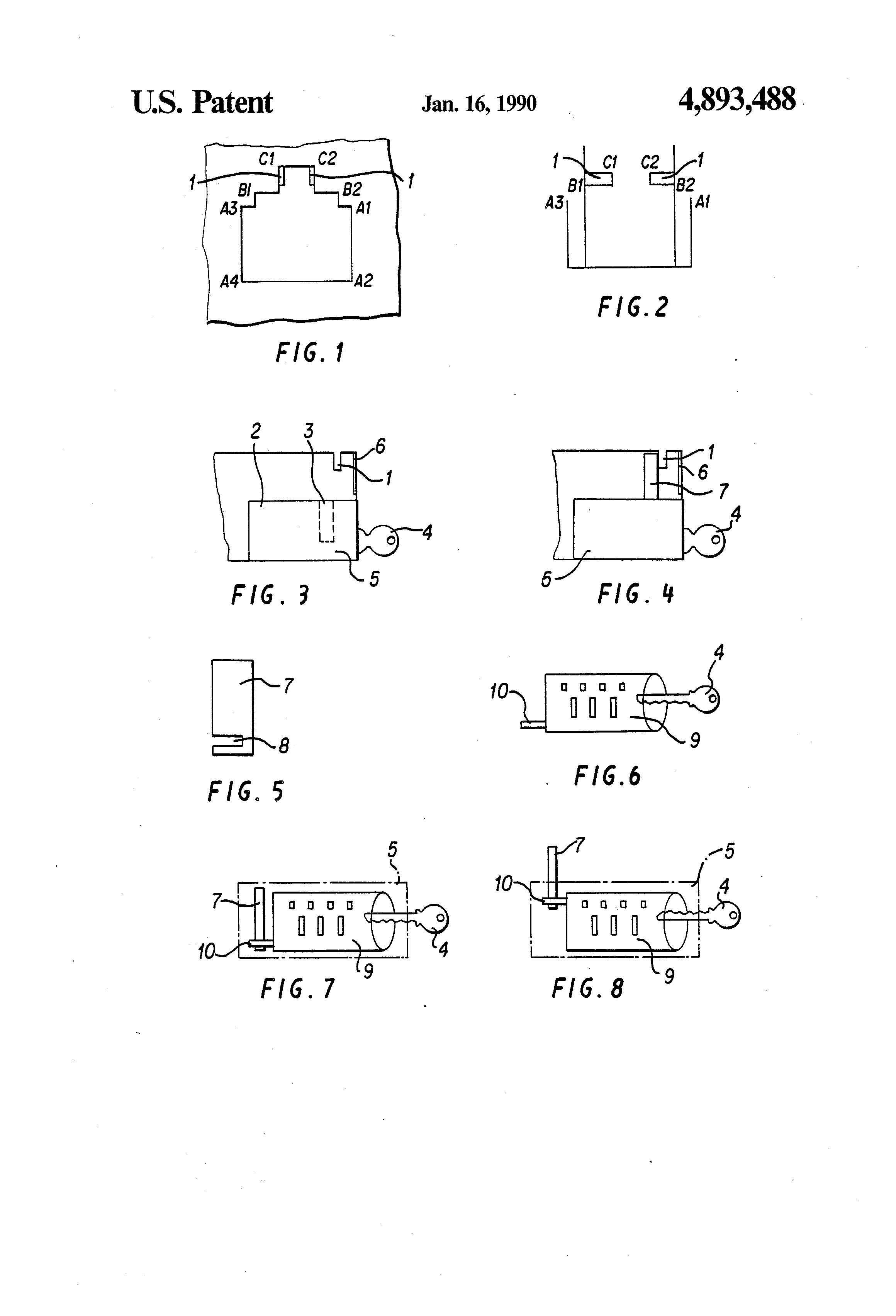 Patent Us4893488 Modular Communications Socket Lock Google Patents Siemon Jack Wiring Diagram Drawing