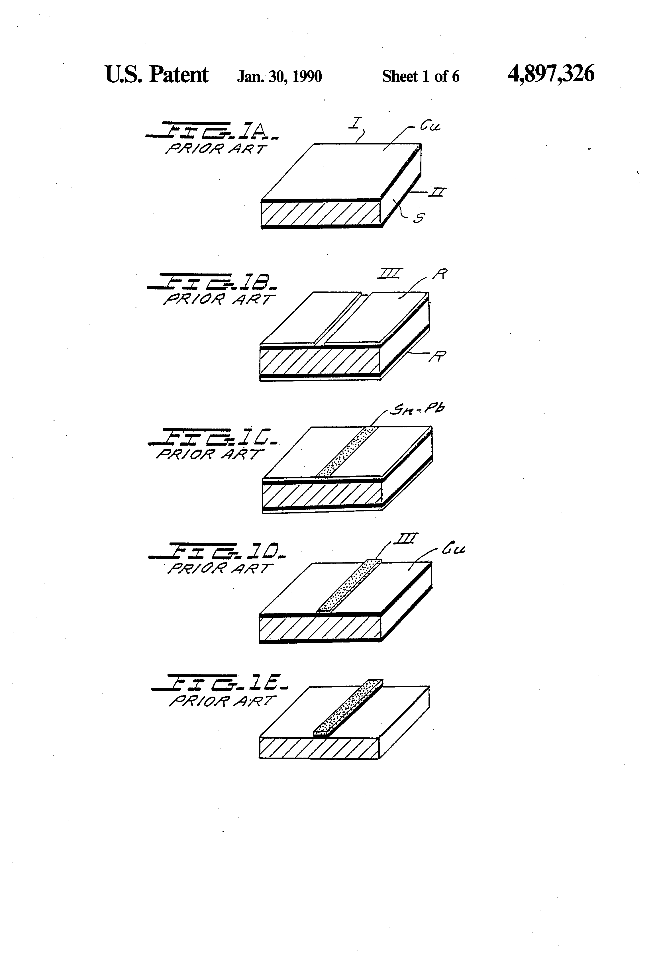 Patent Us4897326 Process To Manufacture Printed Circuit Boards Manufacturing The Board Drawing