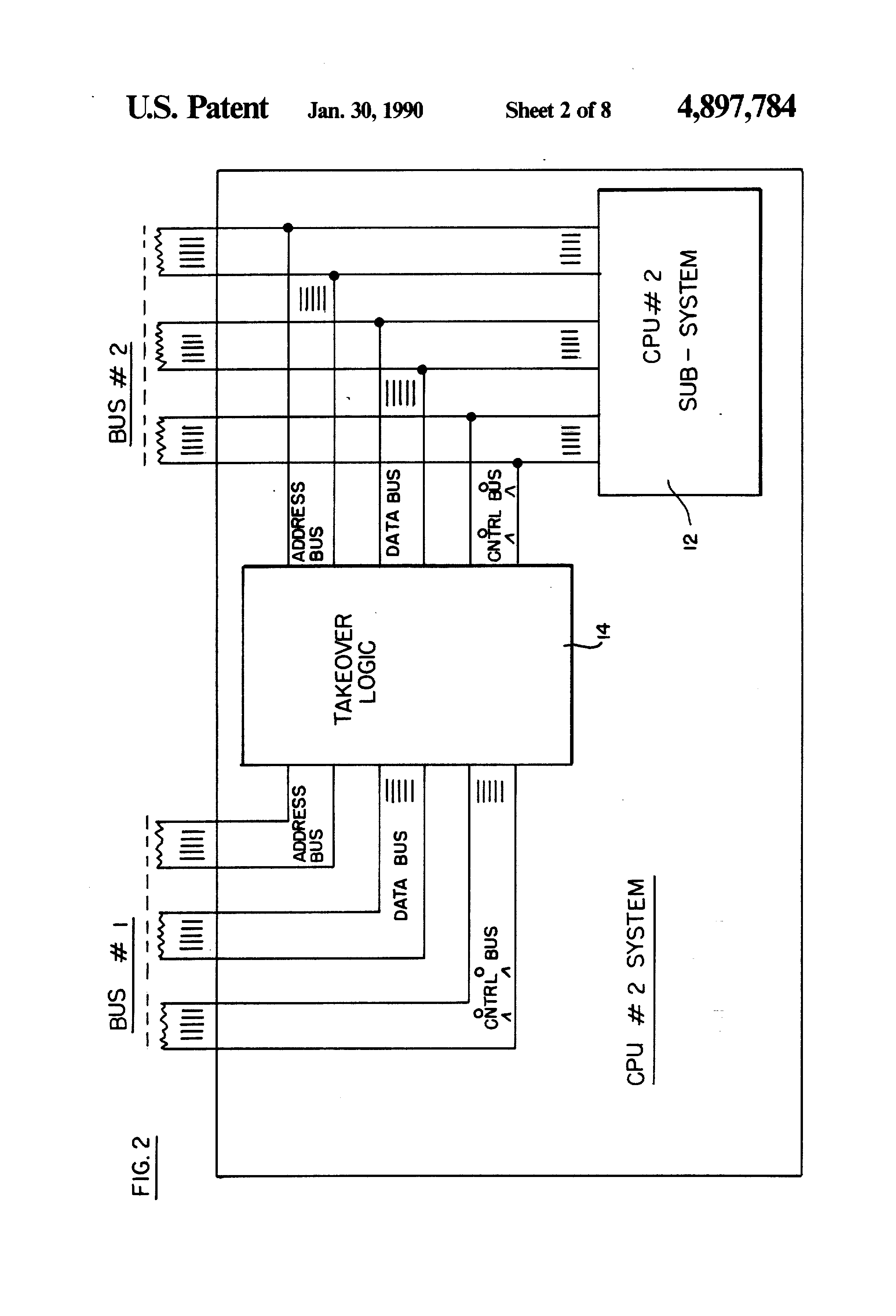 Patent Us4897784 Multi Level Bus Access For Multiple Central 2 Logic Diagram Drawing