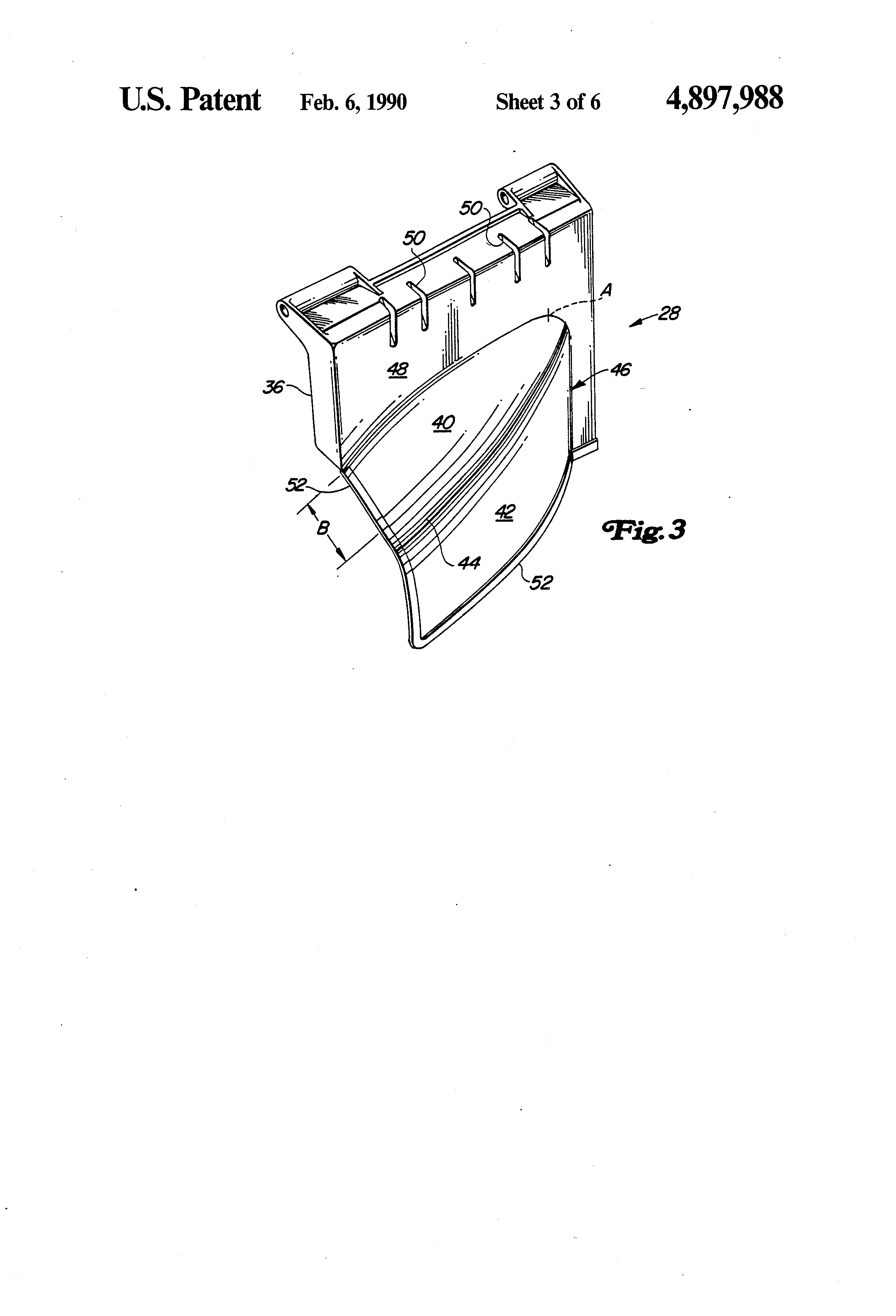 Patent Us4897988 Lawn Mower Discharge Opening Cover And Deflector Engine Mount Diagram Parts List For Murray Walkbehindlawnmower Drawing