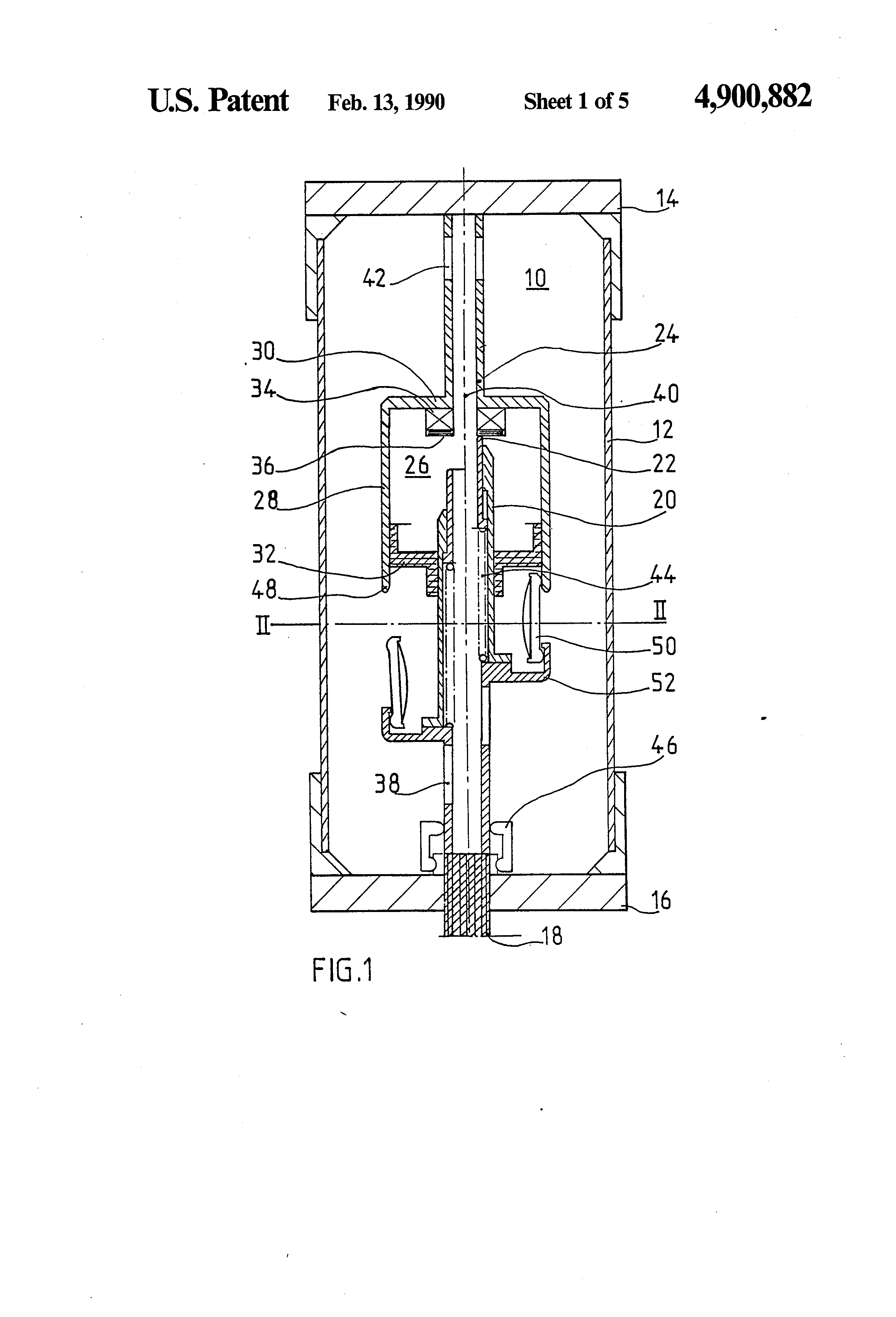 patent us4900882 - rotating arc and expansion circuit breaker