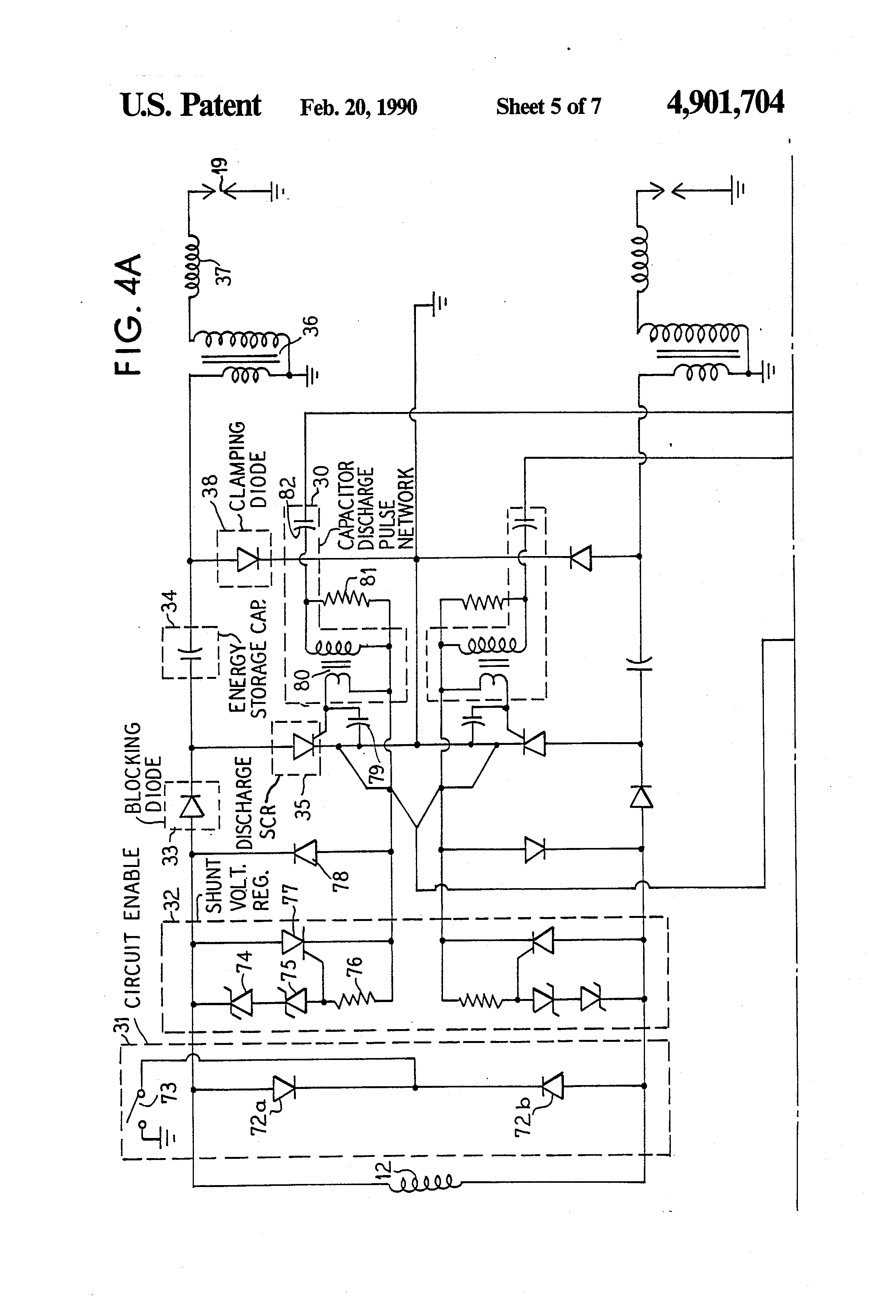 US4901704 5 patent us4901704 hall effect device ignition and charging system kokusan denki cdi wiring diagram at highcare.asia