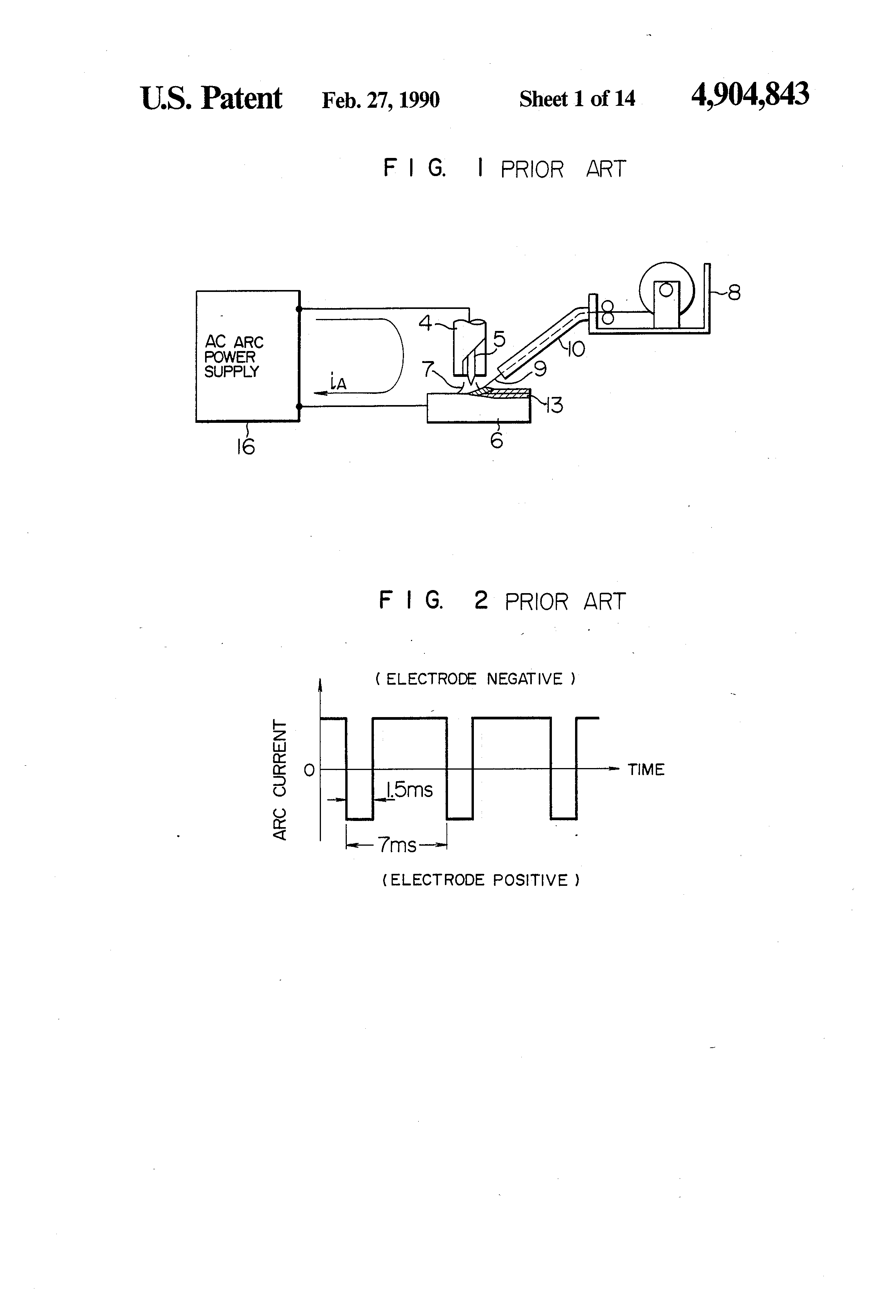 Patent Us4904843 Ac Tig Welding Apparatus Using Hot Wire Google Line Diagram Drawing