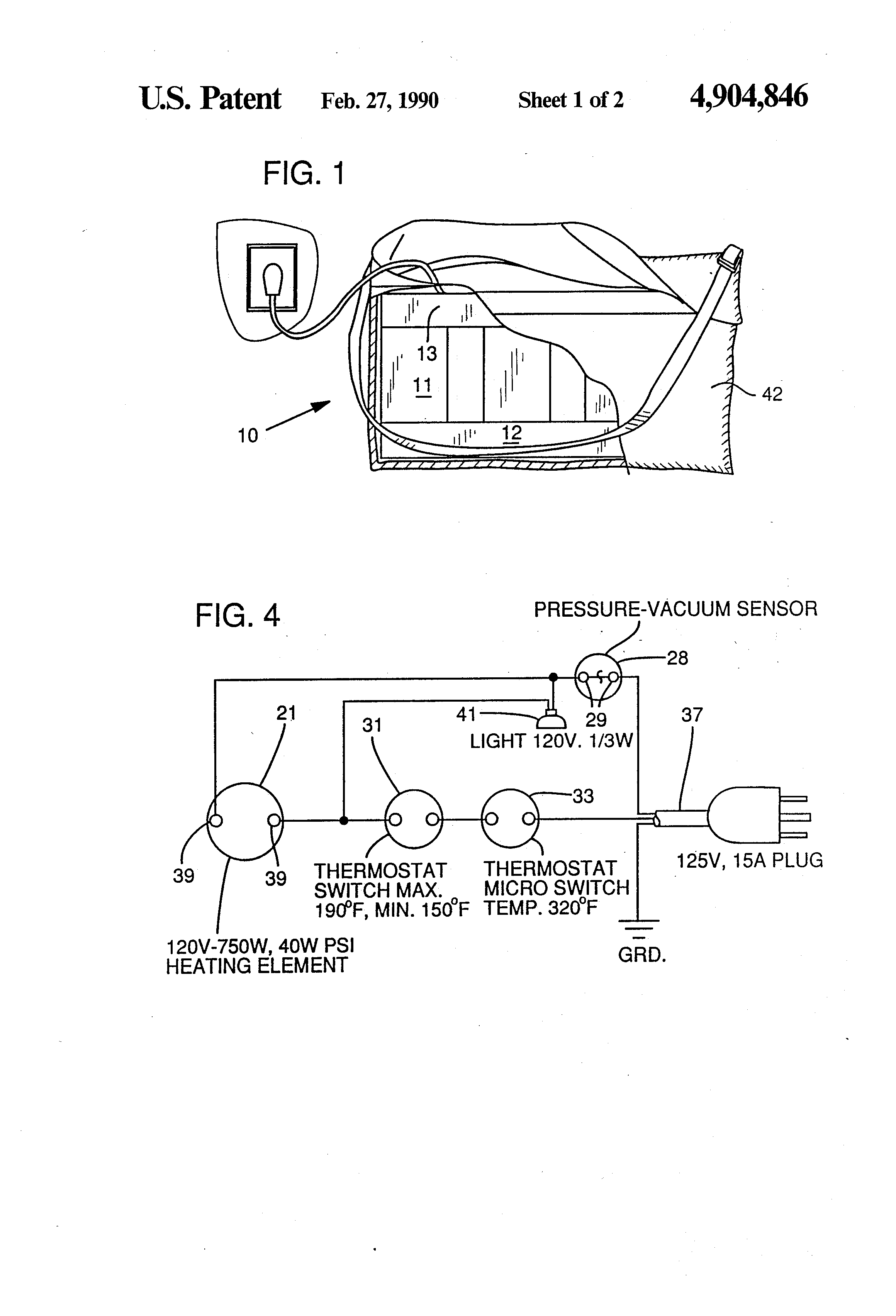 Patent Us4904846 Oil Filled Body Heater Google Patents