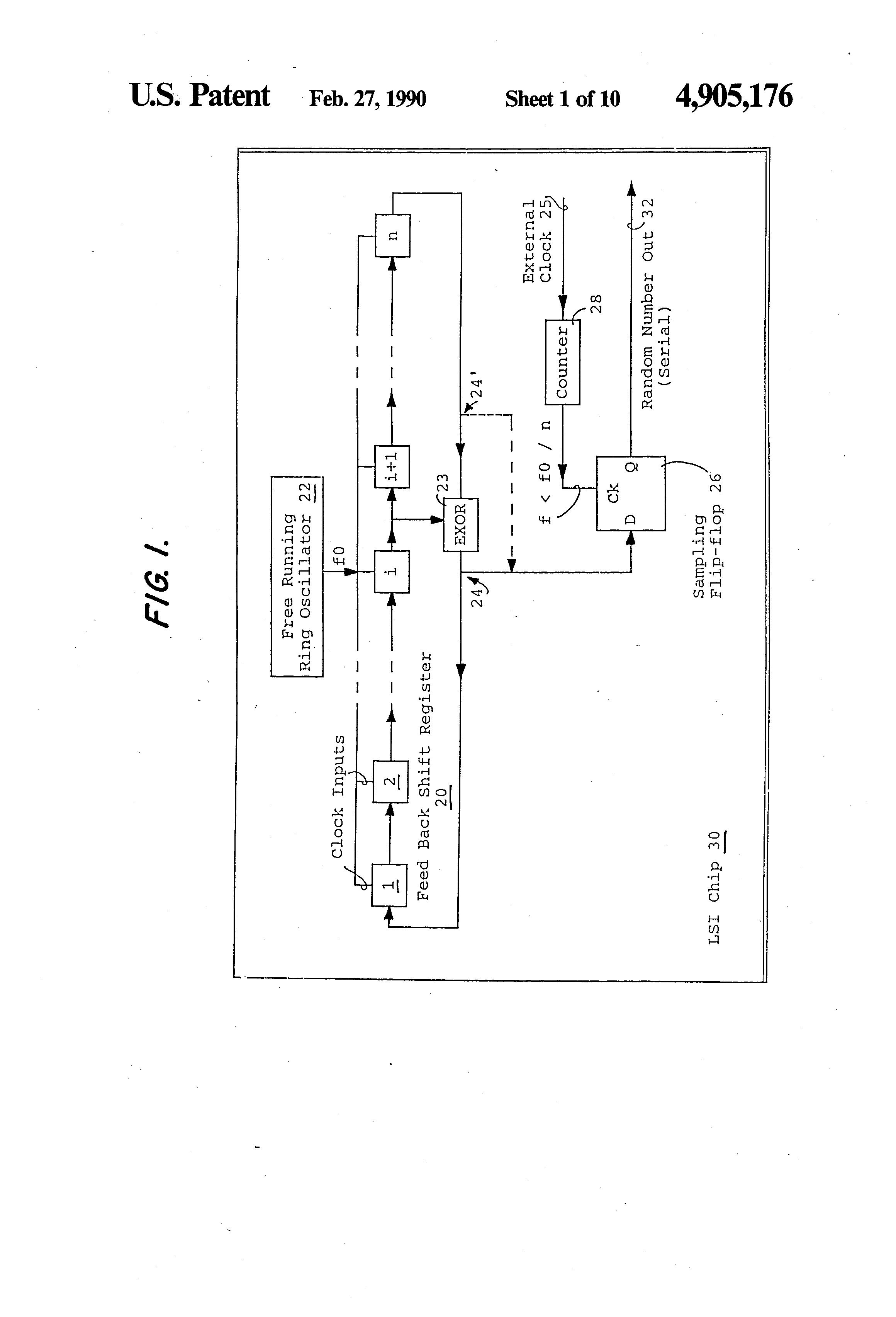 Patent US4905176 - Random number generator circuit - Google