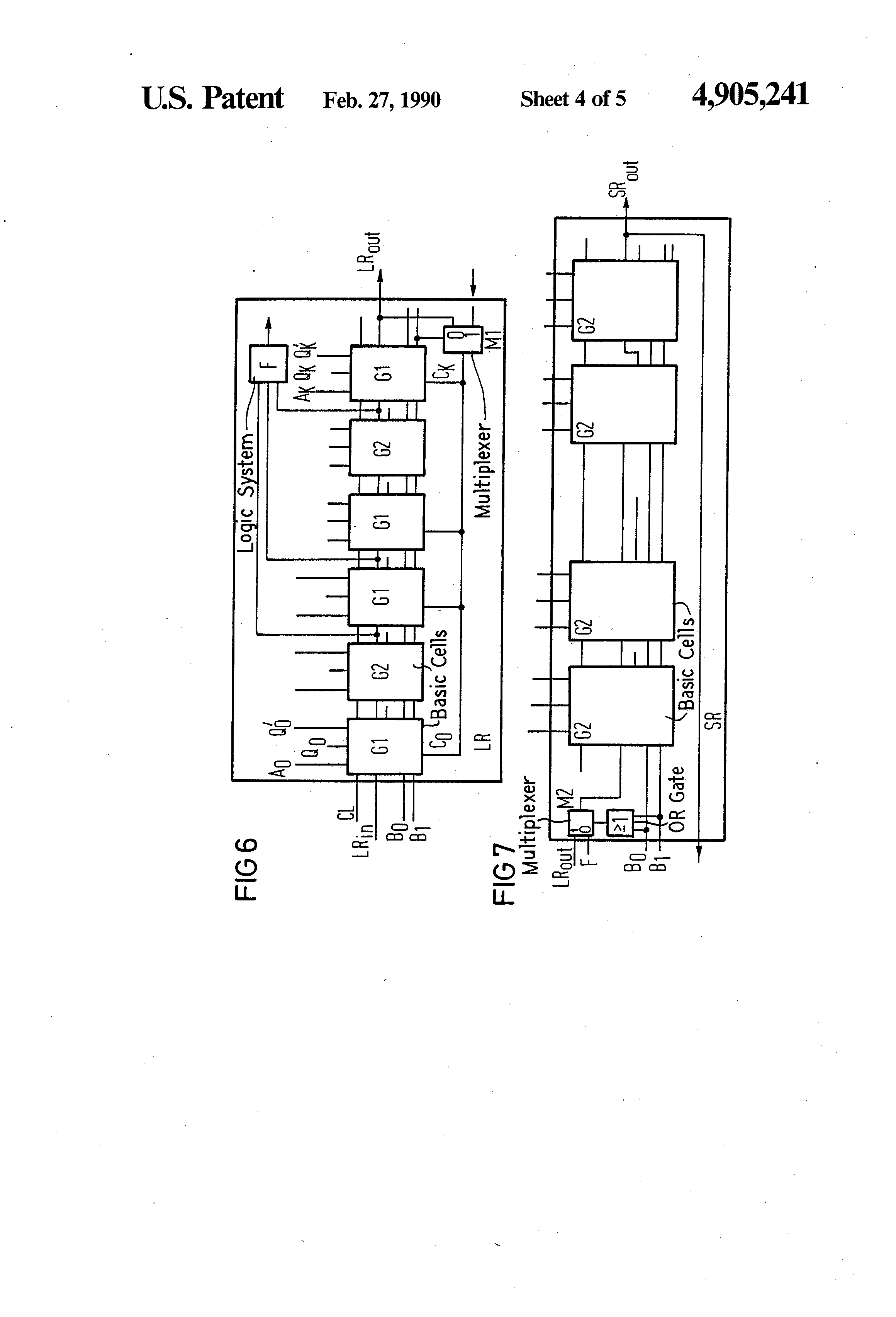 Patent Us4905241 Logic Module For Generating Unequiprobable Random Diagram Multiplexer Drawing