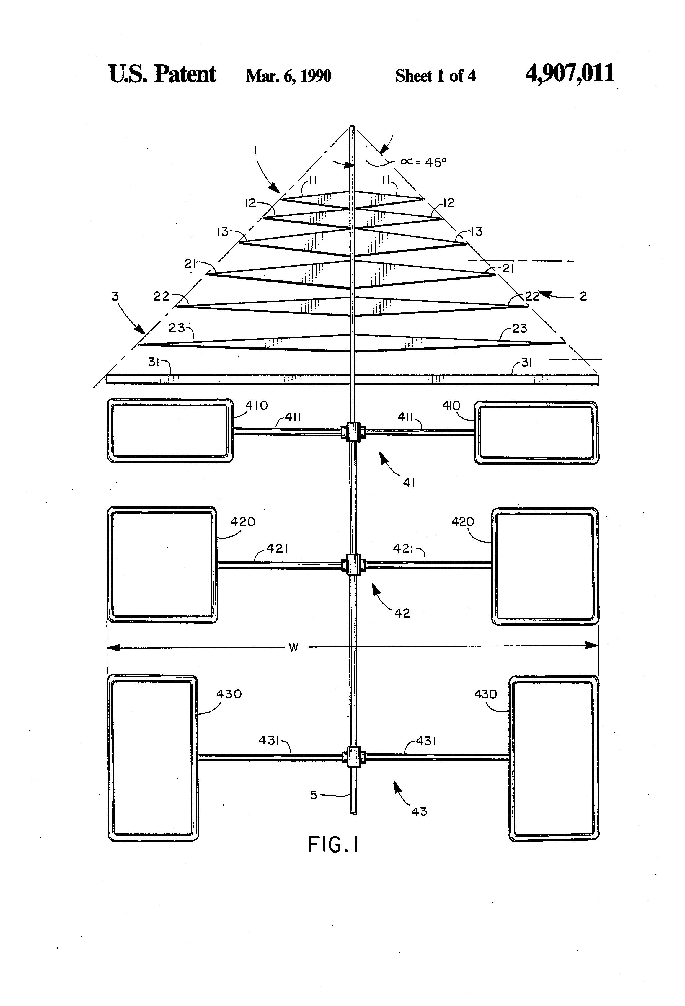 Compact log periodic antenna