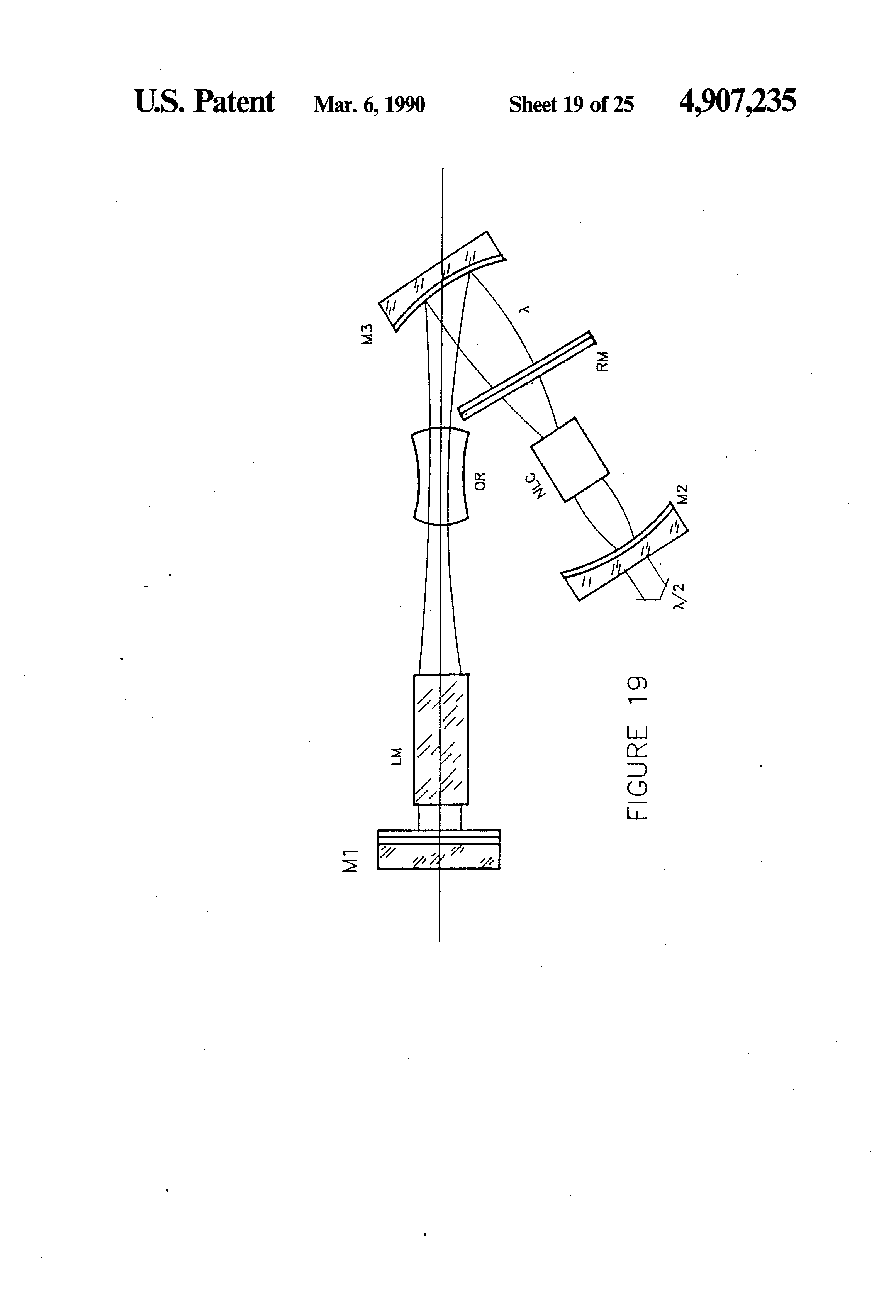 patent us4907235 - intra-cavity beam relay for optical harmonic generation