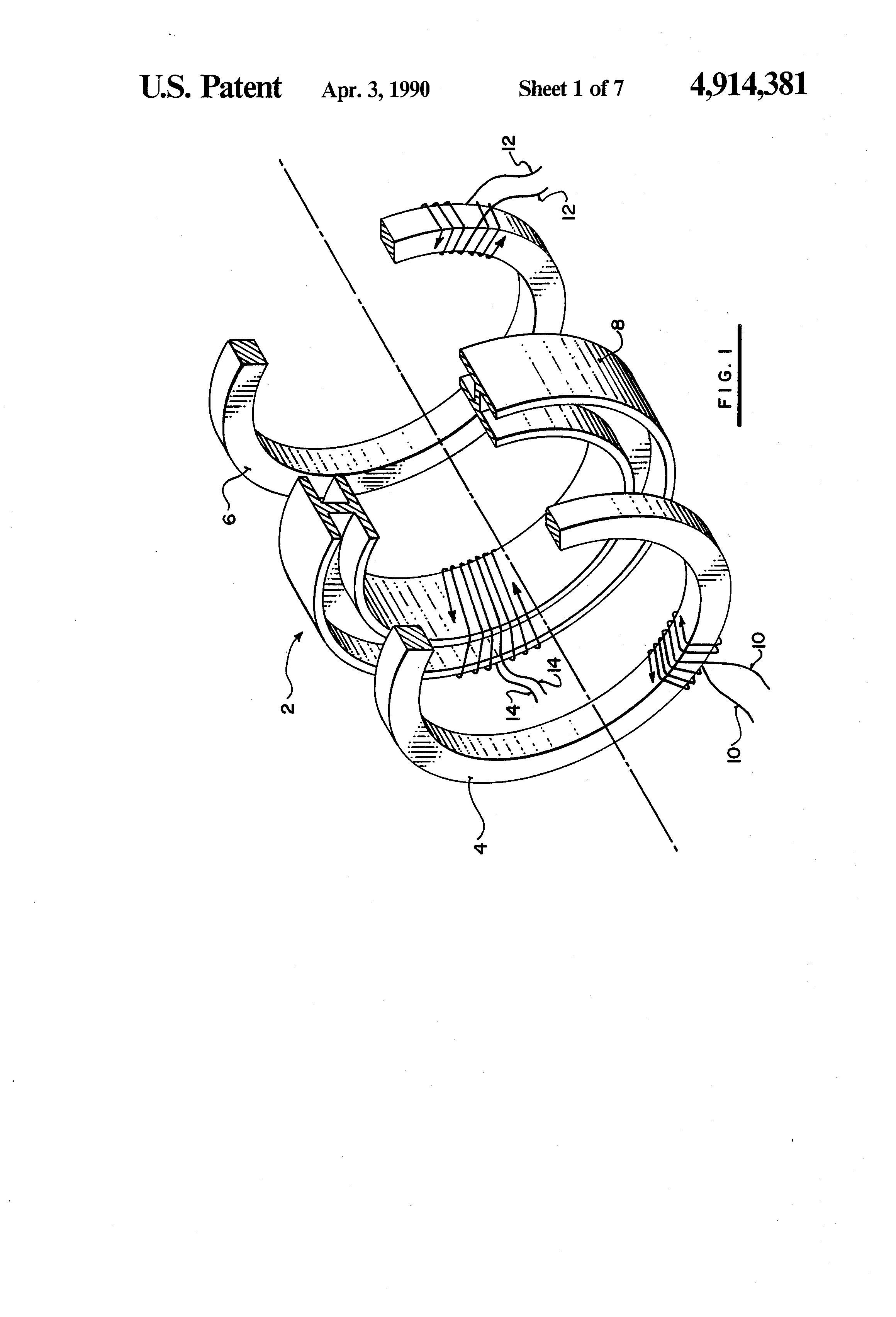 patent us4914381 - direct-coupled fluxgate current sensor