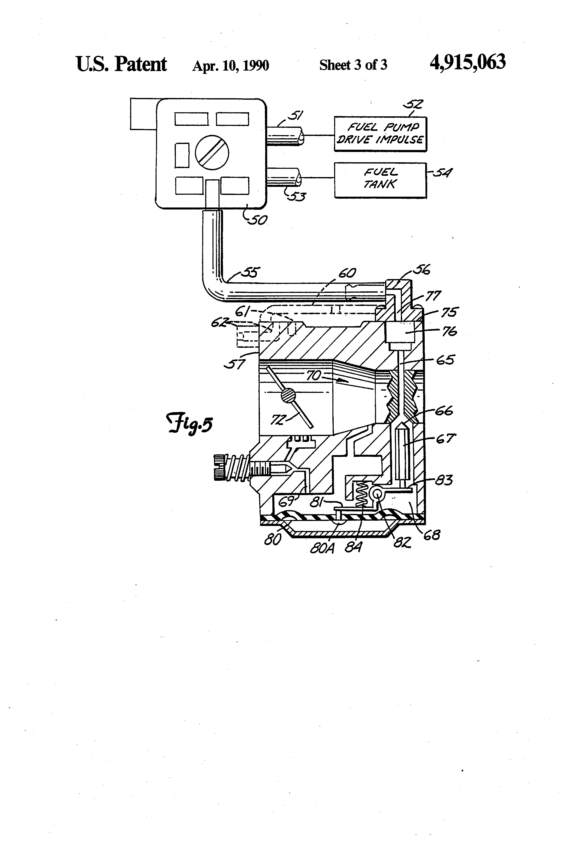 Patent US4915063 - Vapor lock prevention system - Google Patents