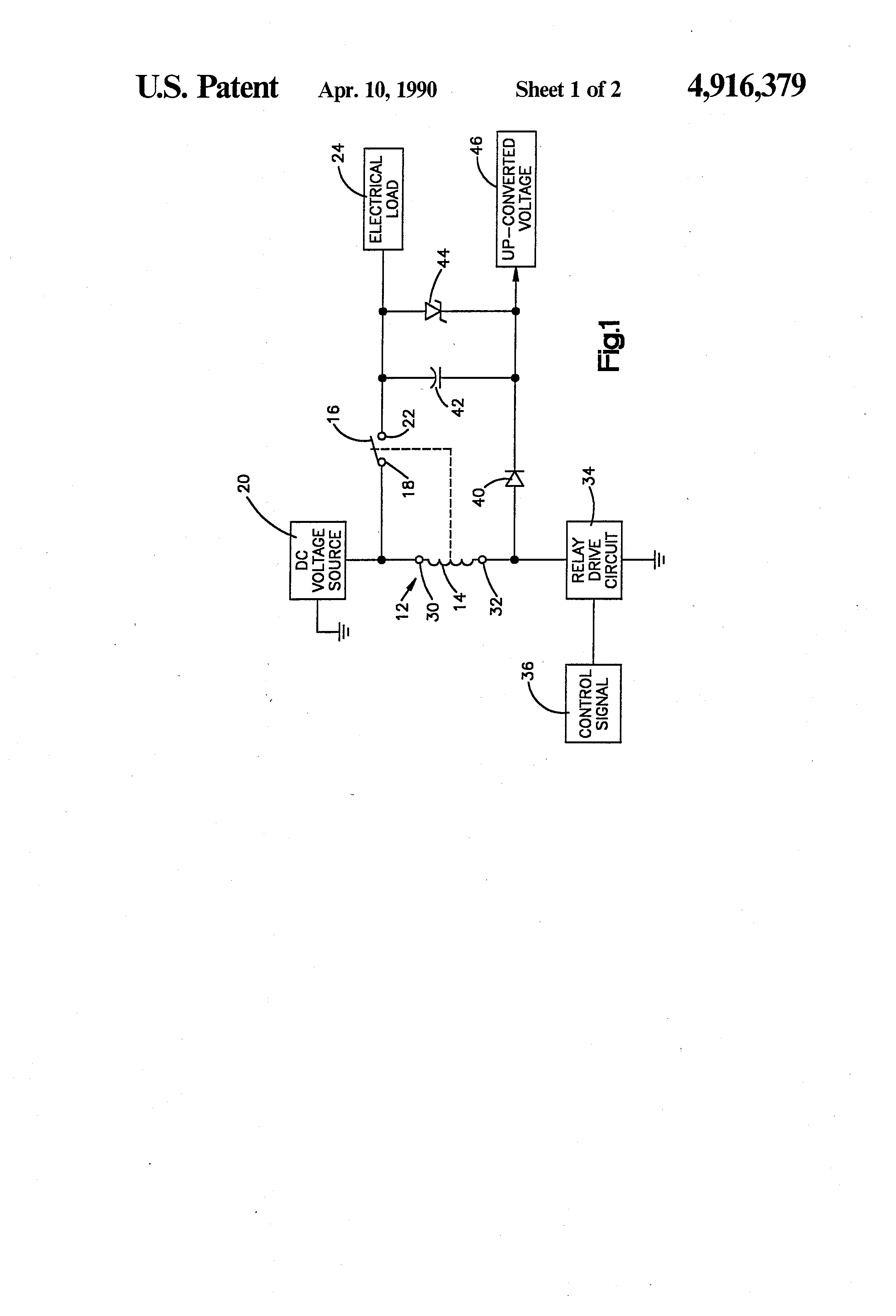 Patent Us4916379 Dc To Converter Using Relay Coil Google Patents Voltage Drawing