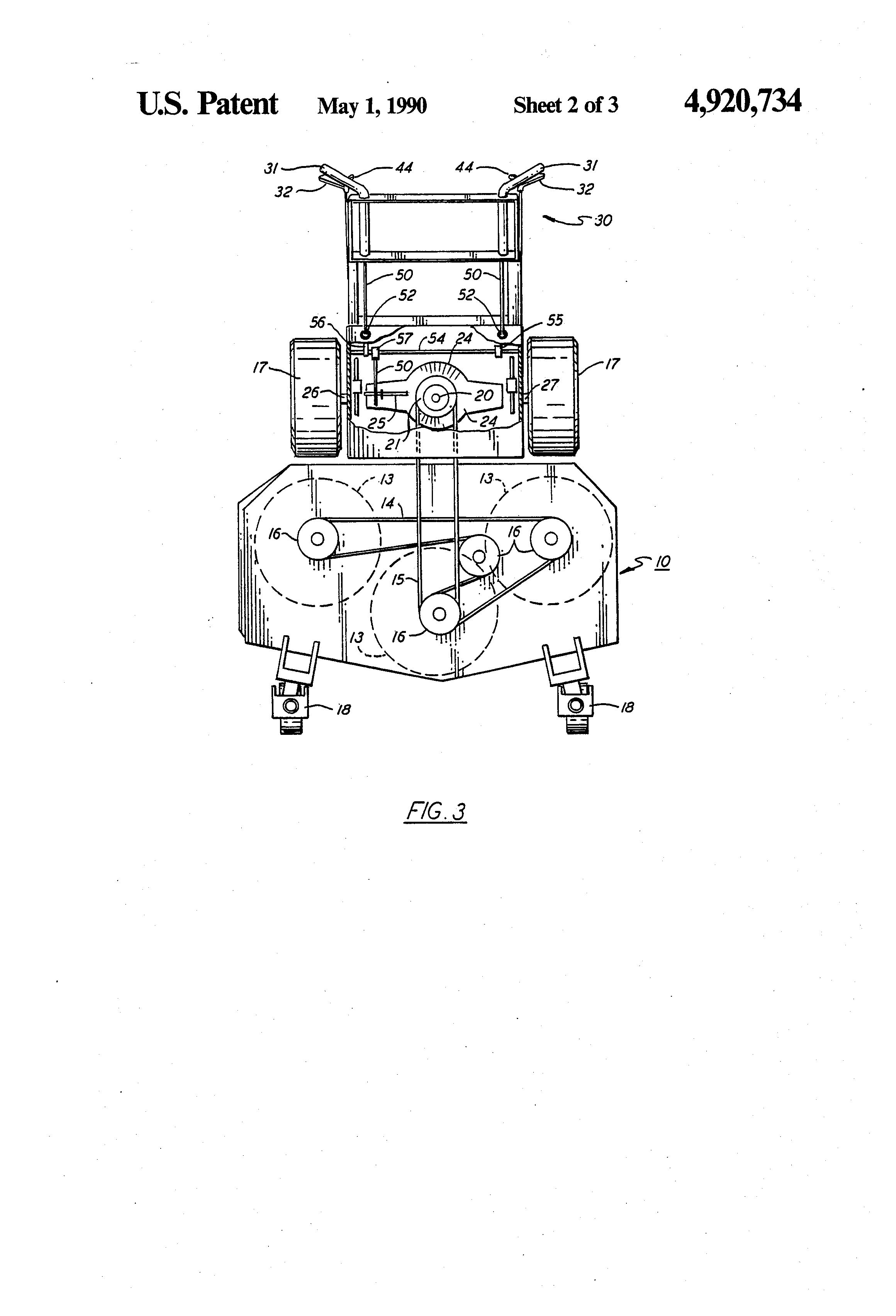 Patent Us4920734 Drive Control For Walk Behind Mower