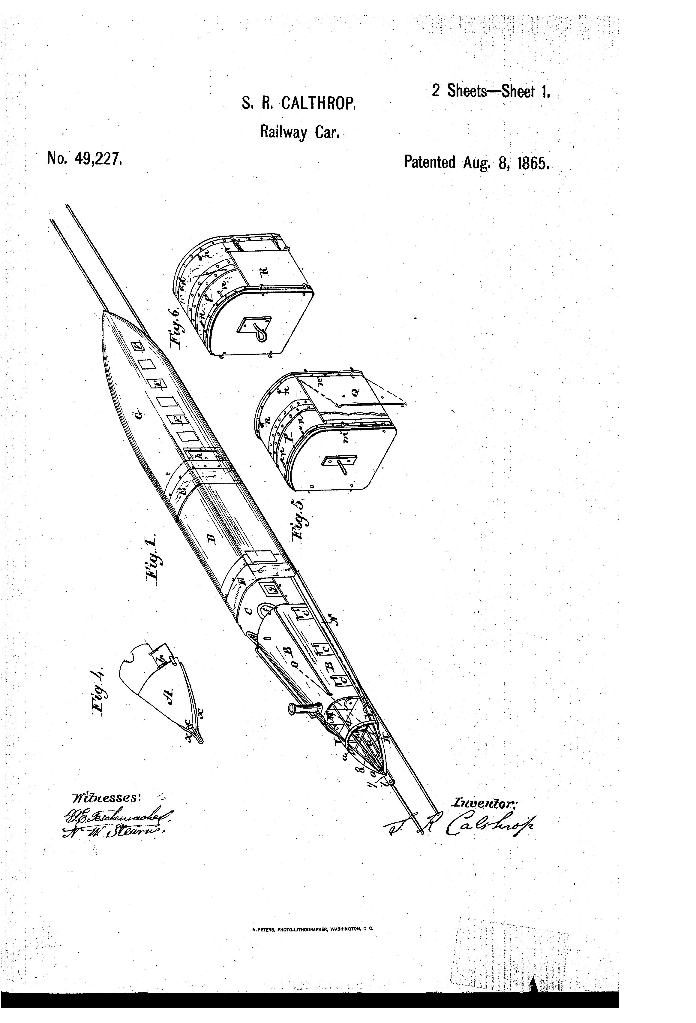 Streamlined 4-4-0 circa 1865