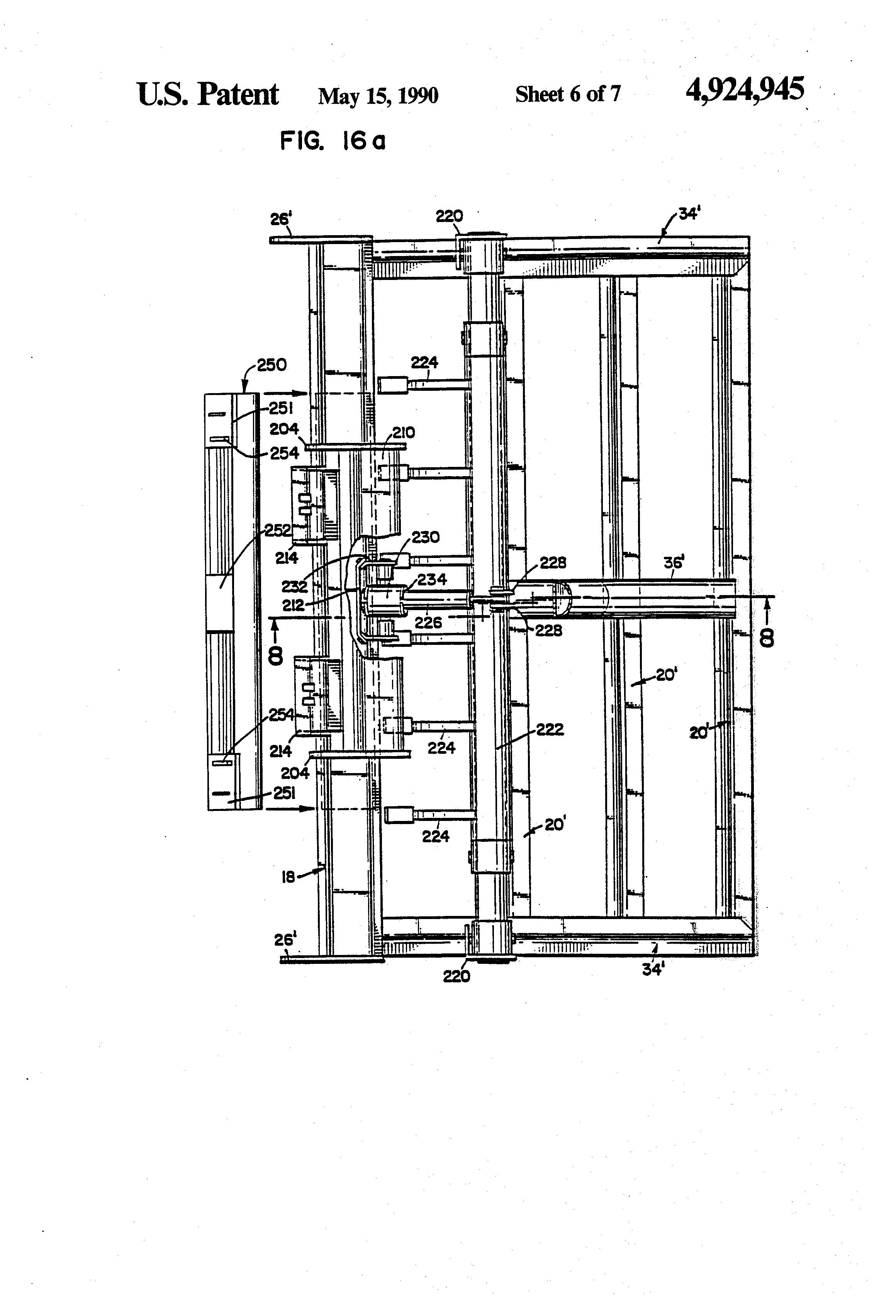 Patent US4924945 - Soil leveling apparatus with improved