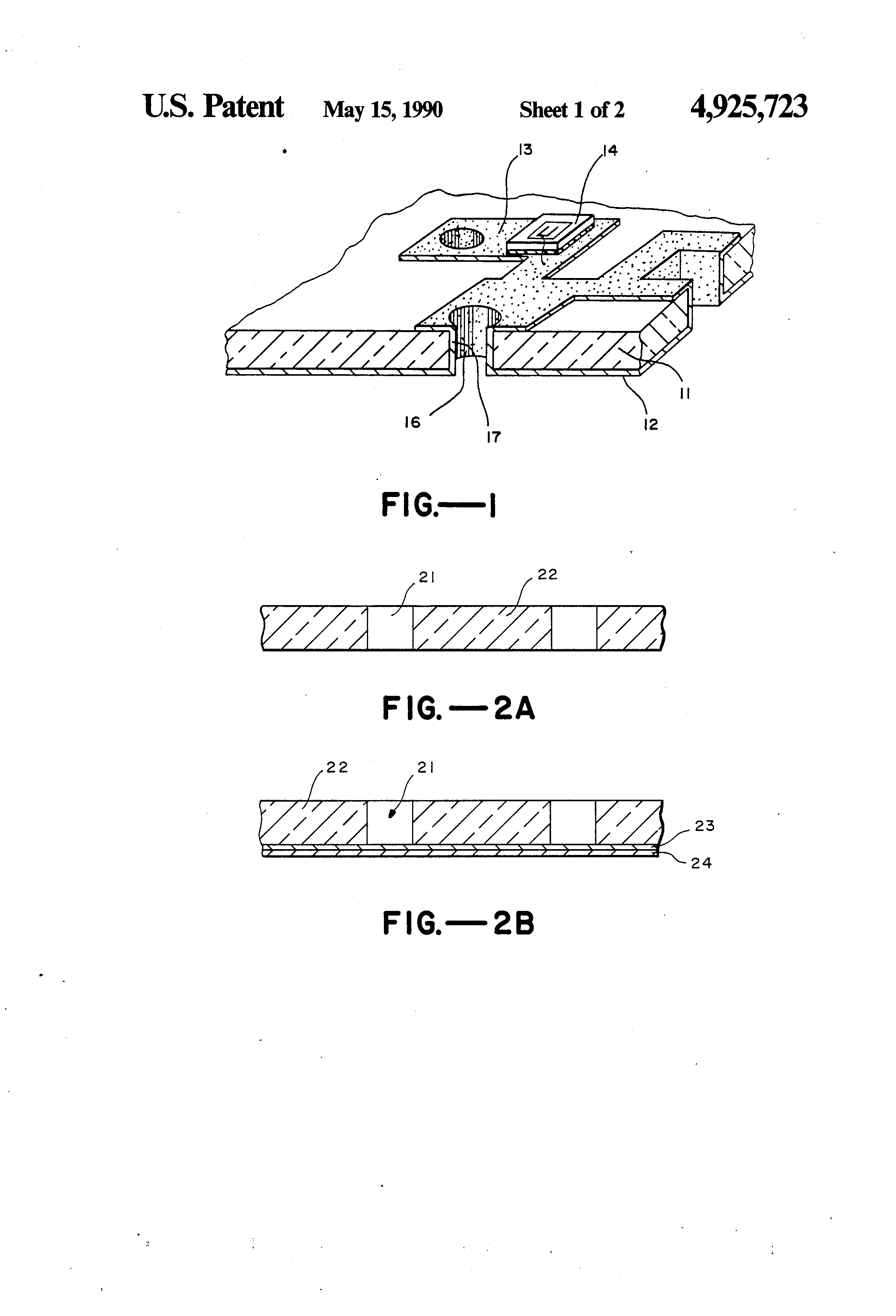 Us4925723 Microwave Integrated Circuit Substrate Thin Of Semiconductor Material Patent Drawing