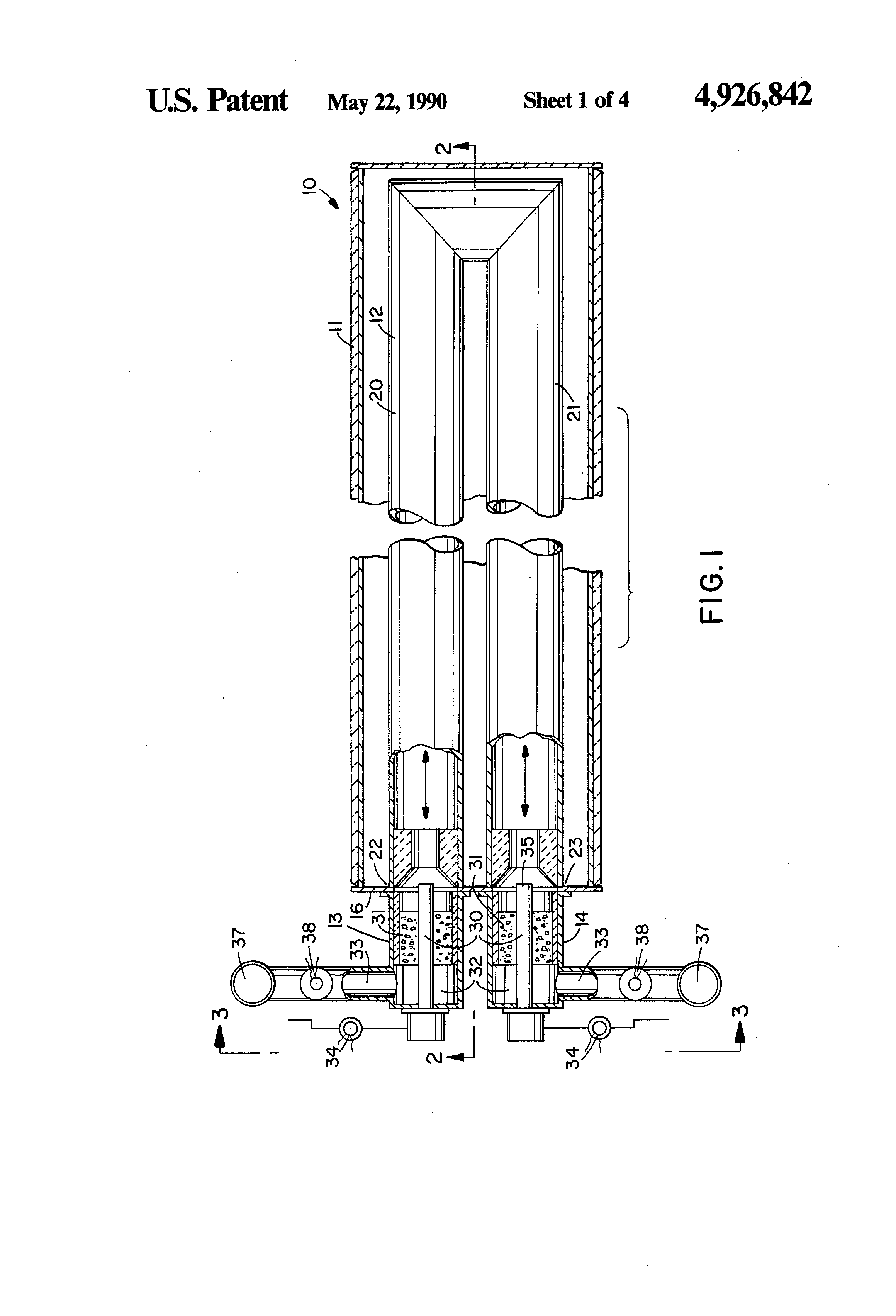 Super Patent Us4926842 Immersion Tube Heater Treater Improved Immersion Wiring Cloud Usnesfoxcilixyz
